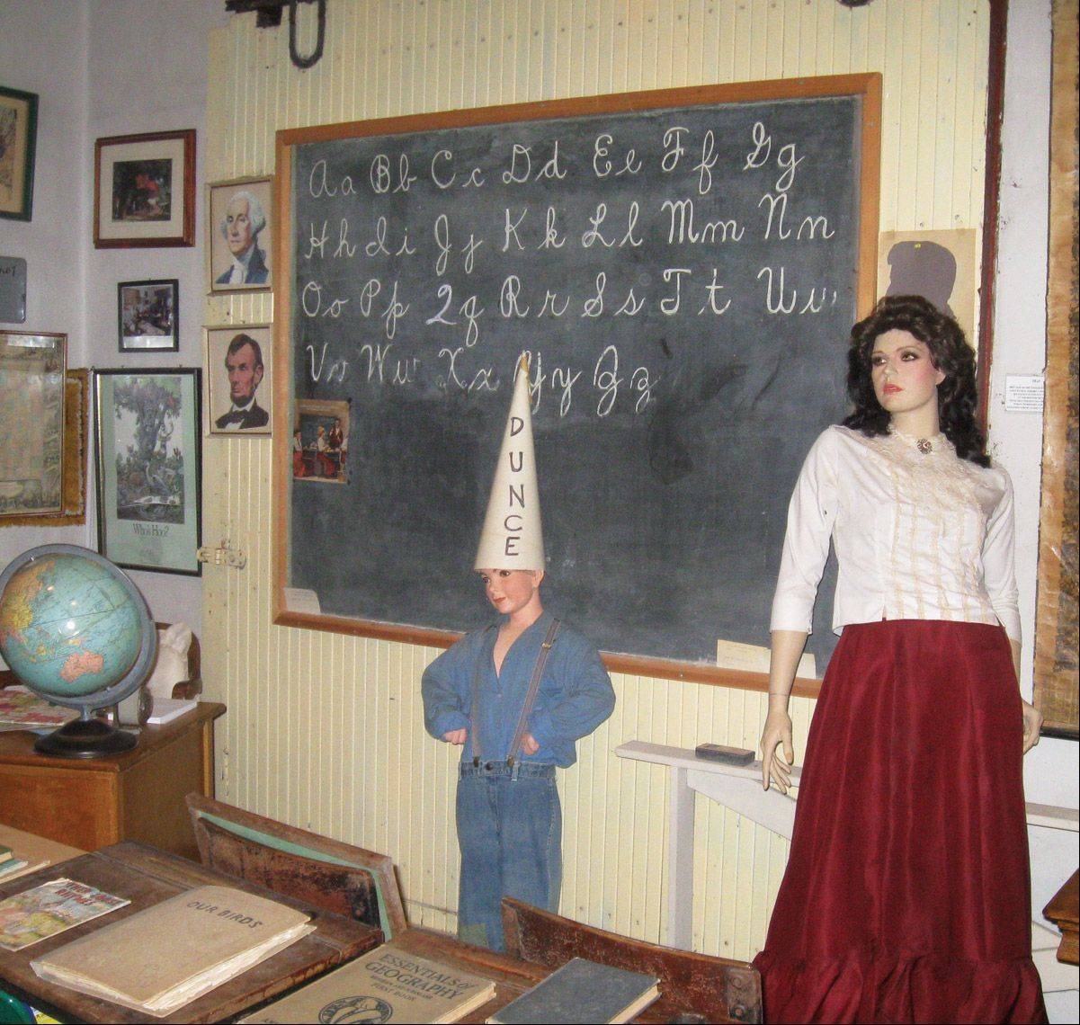 The Fort Hill Heritage Museum's Lake County school house display in Mundelein.