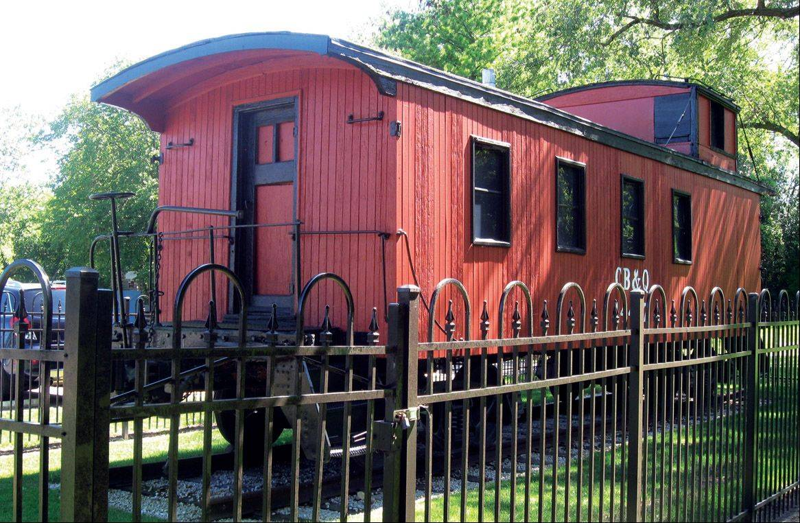 An 1890s caboose is on display outside the Fort Hill Heritage Museum in Mundelein.