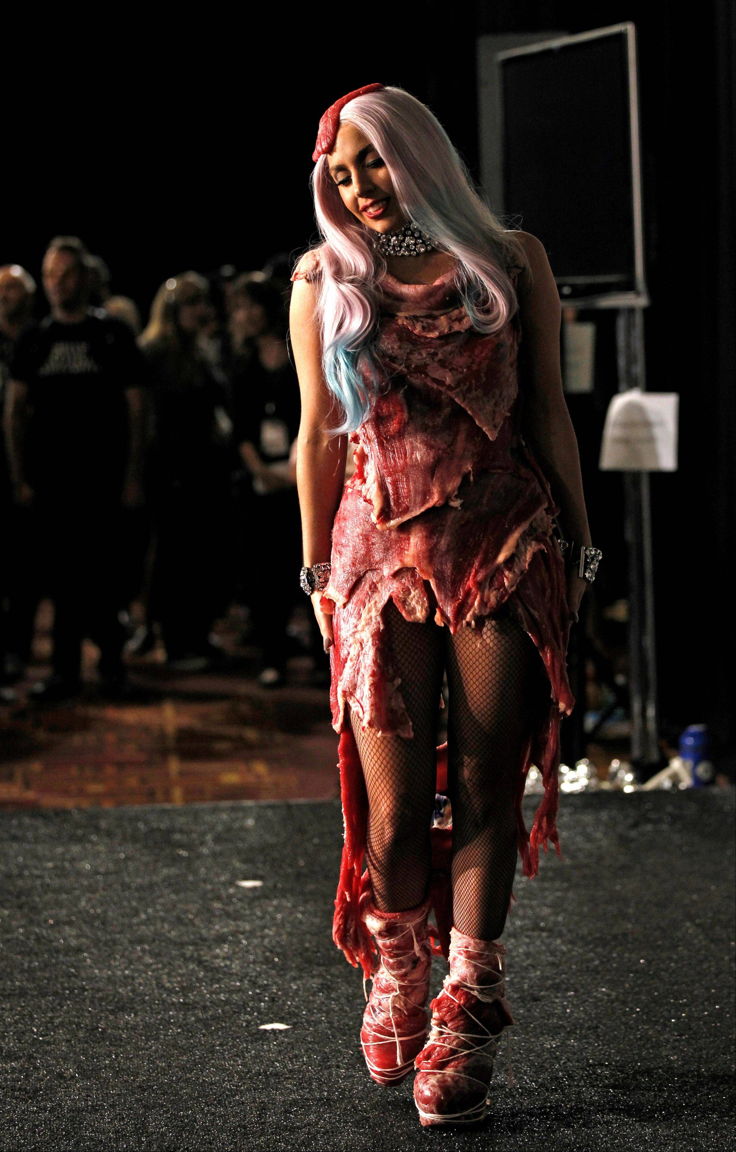 Lady Gaga�s dress made of meat has made its way to Washington, along with Loretta Lynn�s song about �The Pill� and other relics from music history. It will be displayed at the National Museum of Women in the Arts with an explanation of her political message.
