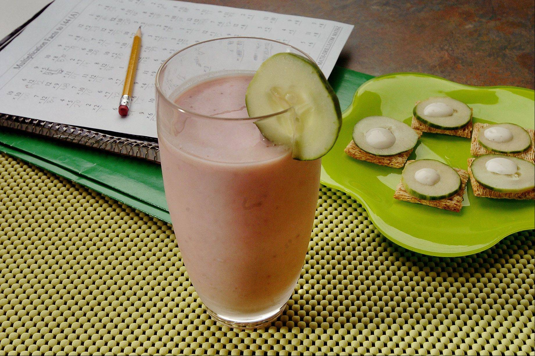 This strawberry smoothie has a surprising ingredient � cucumber.