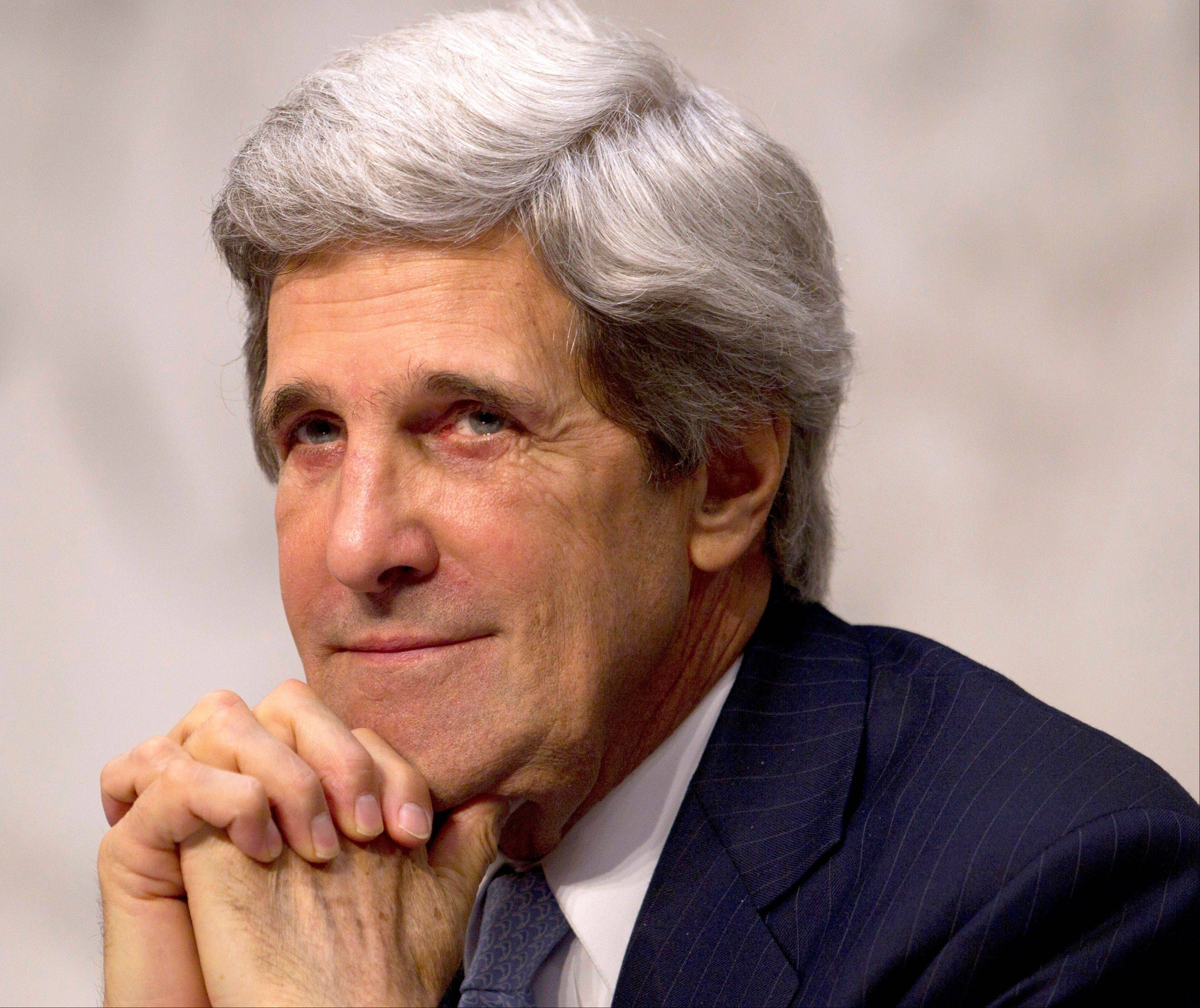 In this Feb. 28 file photo, Senate Foreign Relations Committee Chairman Sen. John Kerry, D-Mass., is seen on Capitol Hill in Washington. Kerry�s speech to the Democratic National Convention Thursday night is an audition of sorts for secretary of state if President Barack Obama is re-elected.