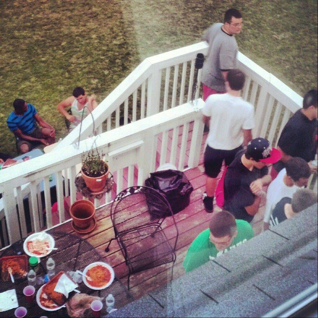 Grant�s unfortunate preseason episode, which occurred on this deck, has turned into a bonding experience for the program.