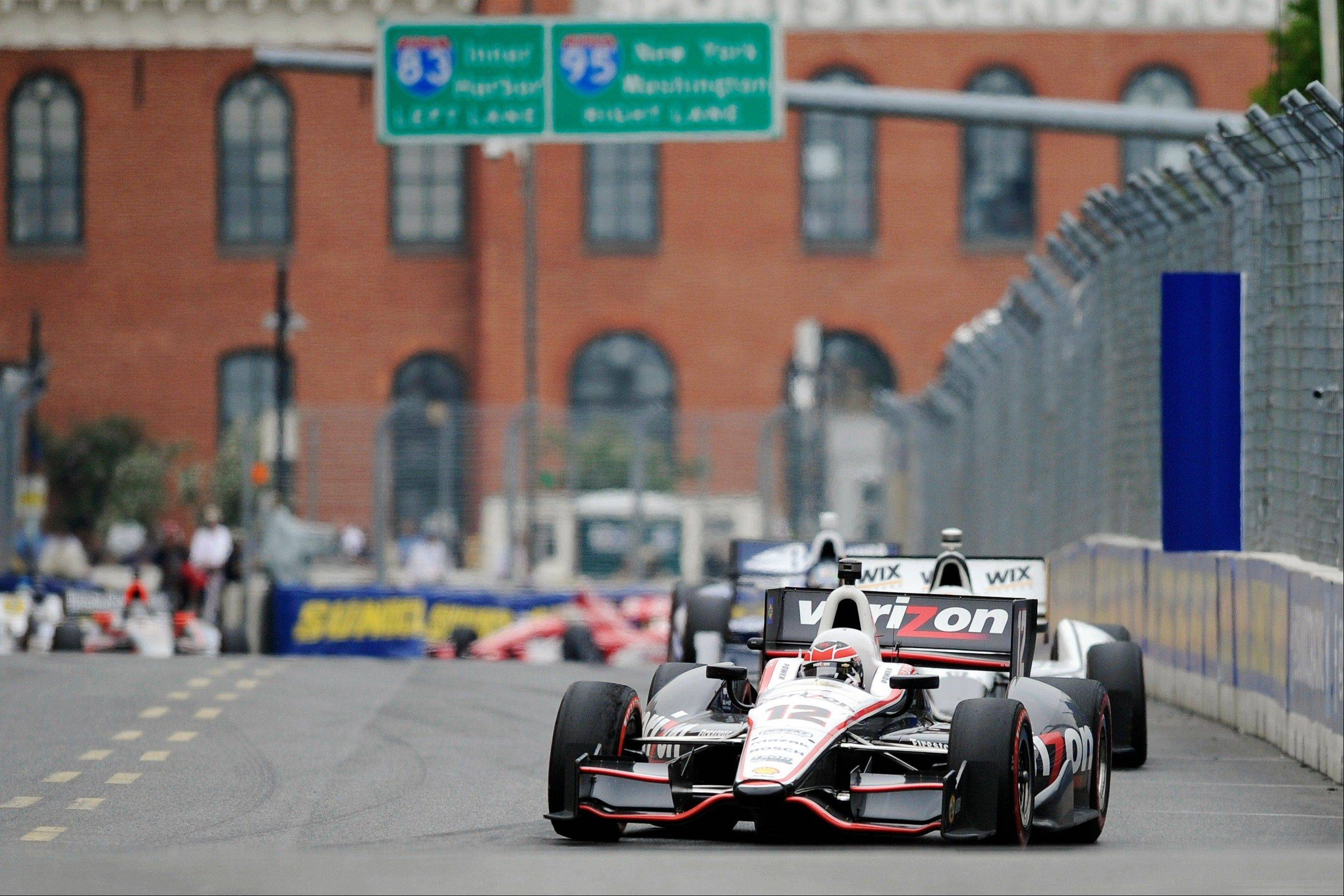 Associated Press Will Power of Australia competes during the IZOD Grand Prix of Baltimore auto race last Sunday. Power leads Hunter-Reay by 17 points in the championship standings.
