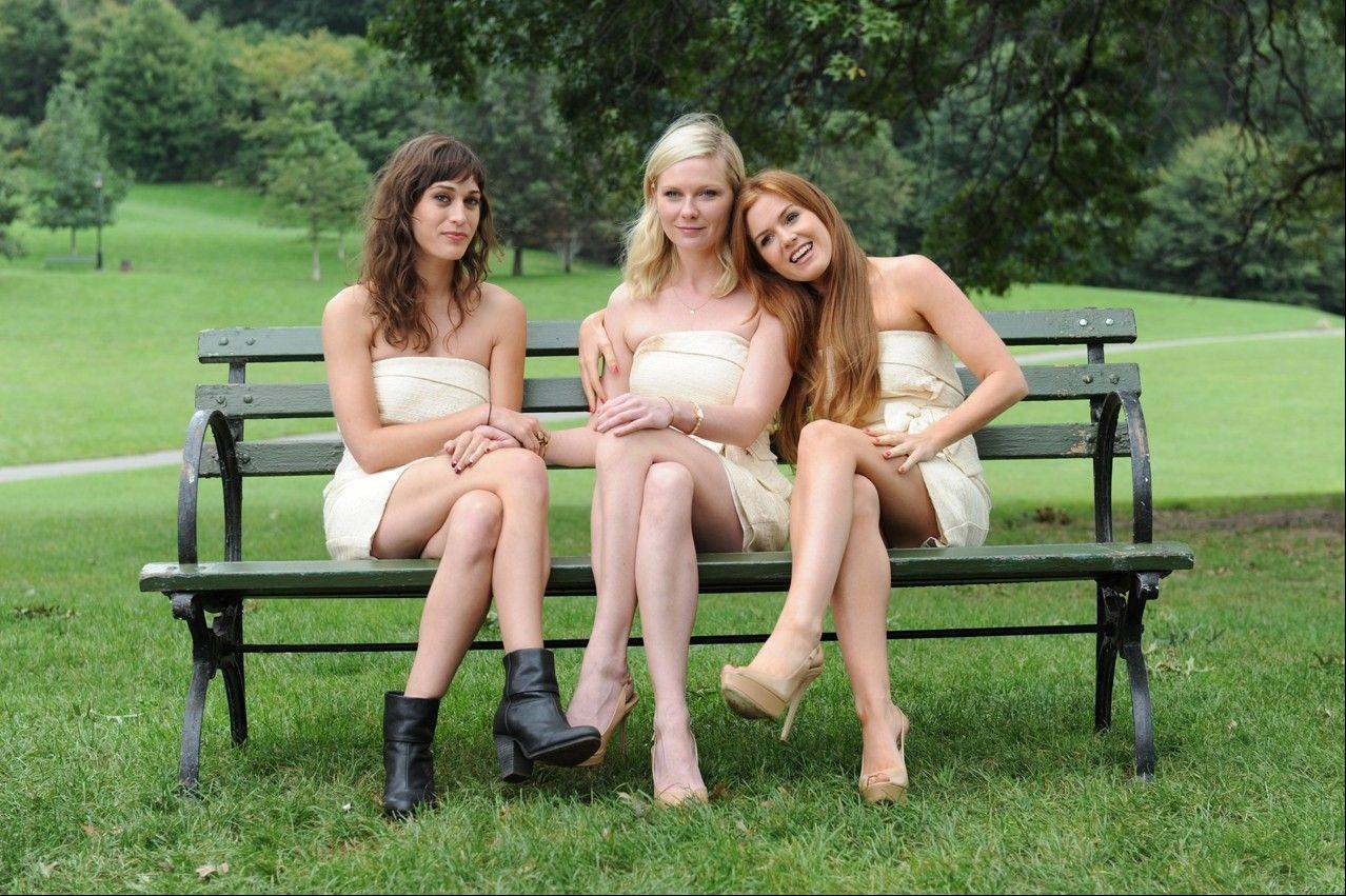 "Three friends (Lizzy Caplan, Kirsten Dunst and Isla Fisher) react badly to their friend's wedding in ""Bachelorette."""