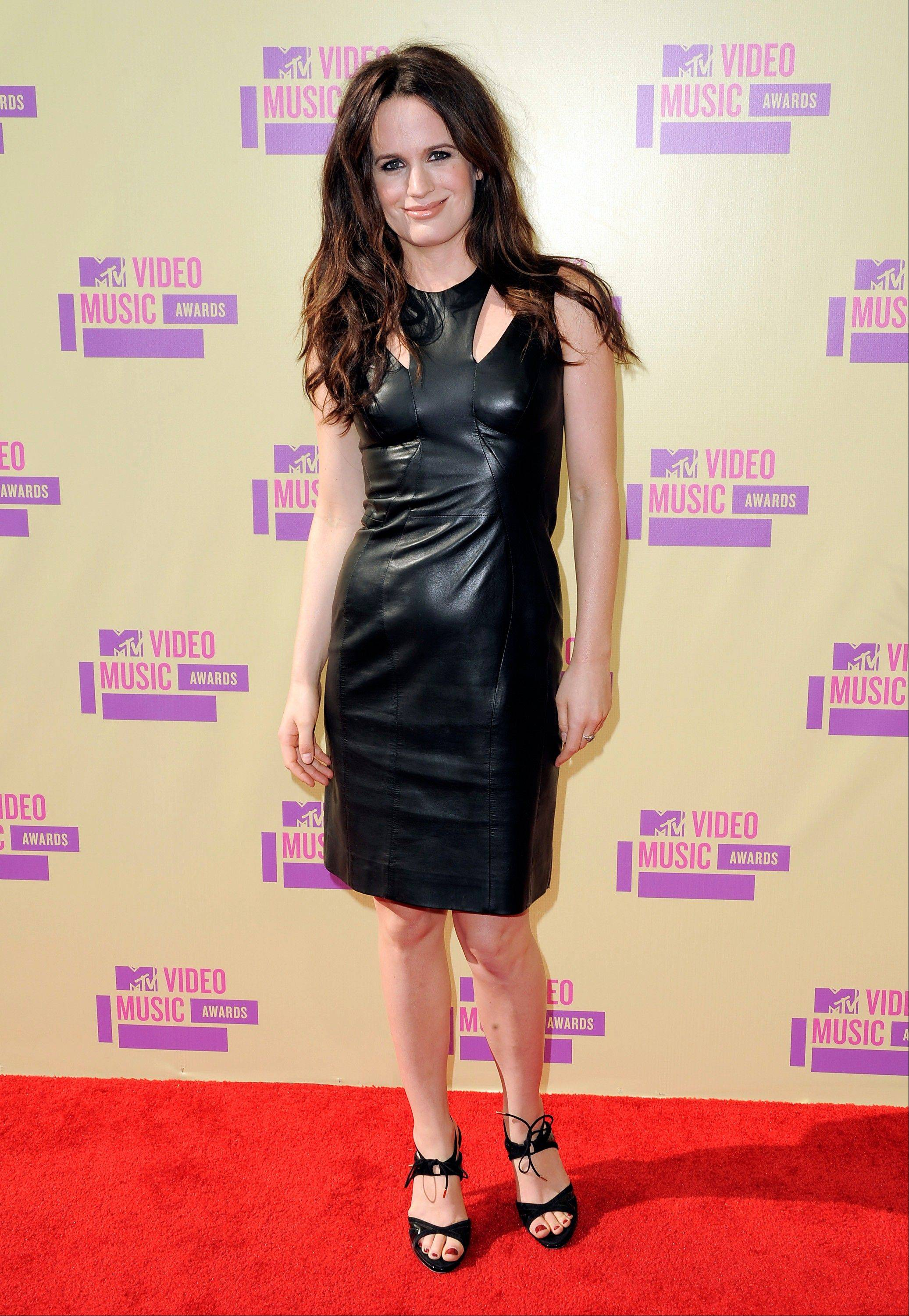 Elizabeth Reaser attends the MTV Video Music Awards on Thursday, Sept. 6, 2012, in Los Angeles.