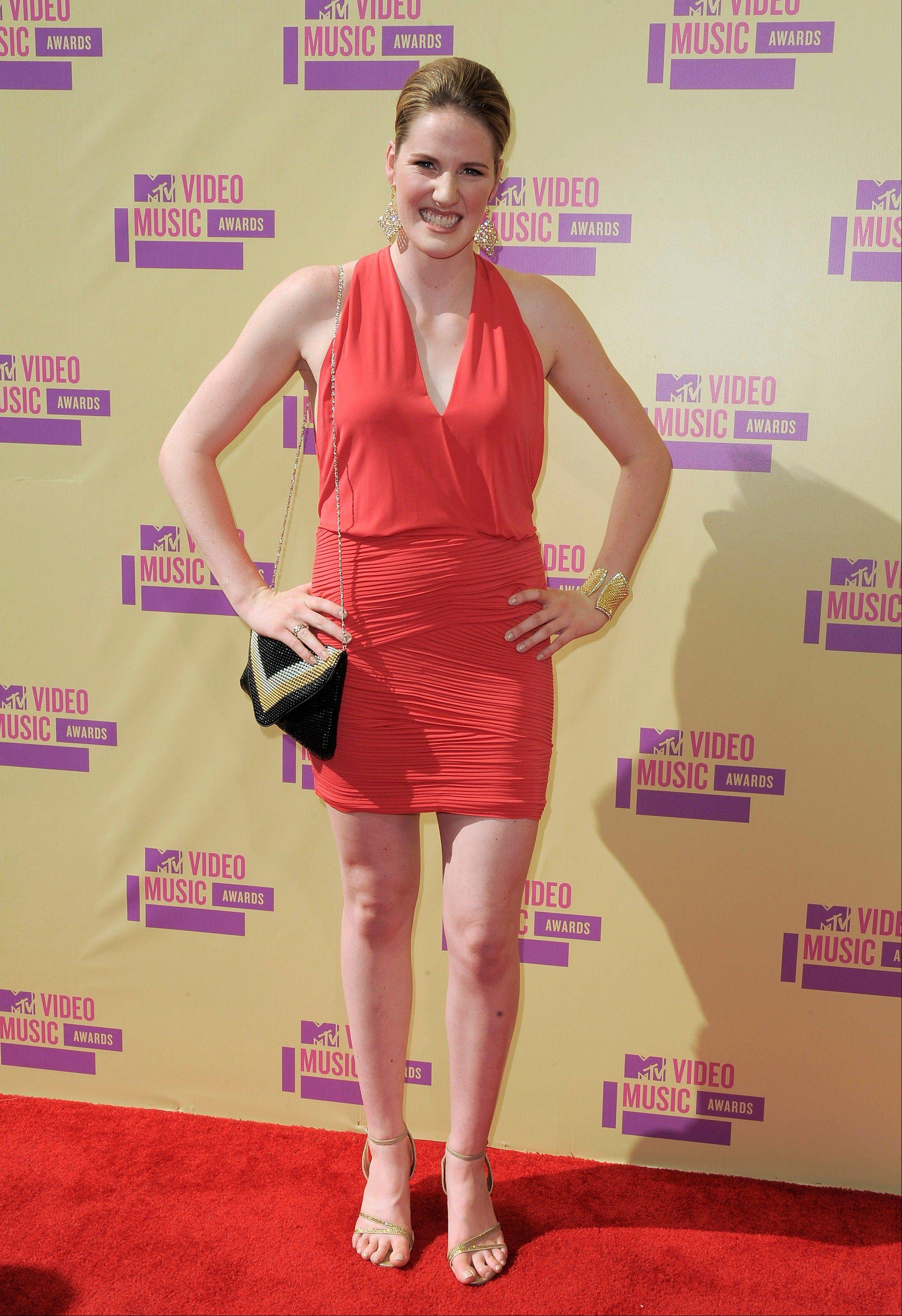 Olympic swimmer Missy Franklin arrives at the MTV Video Music Awards on Thursday, Sept. 6, 2012, in Los Angeles.