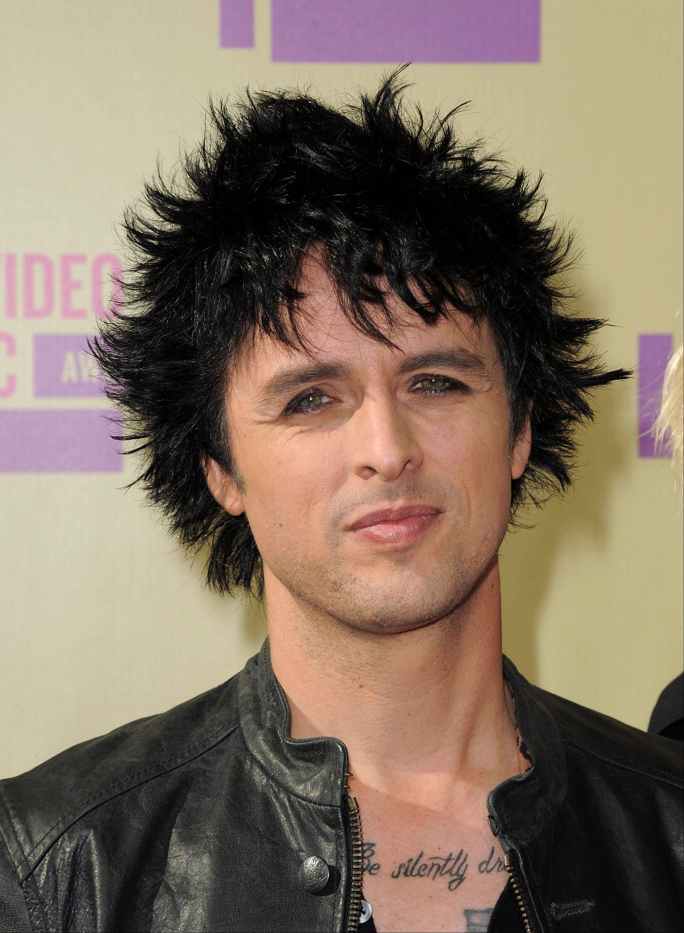 Billie Joe Armstrong of Green Day attends the MTV Video Music Awards on Thursday, Sept. 6, 2012, in Los Angeles.