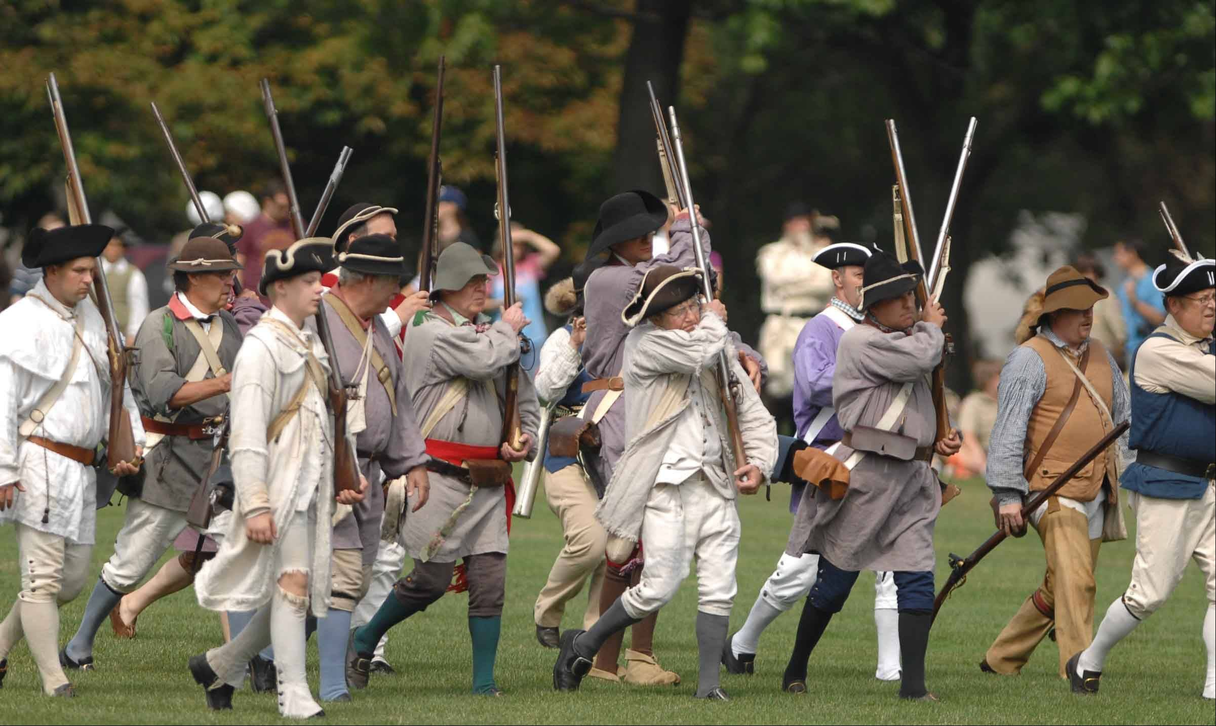 The Revolutionary War re-enactment at Cantigny takes history buffs back further in time than most area encampments, which typically focus on the Civil War.