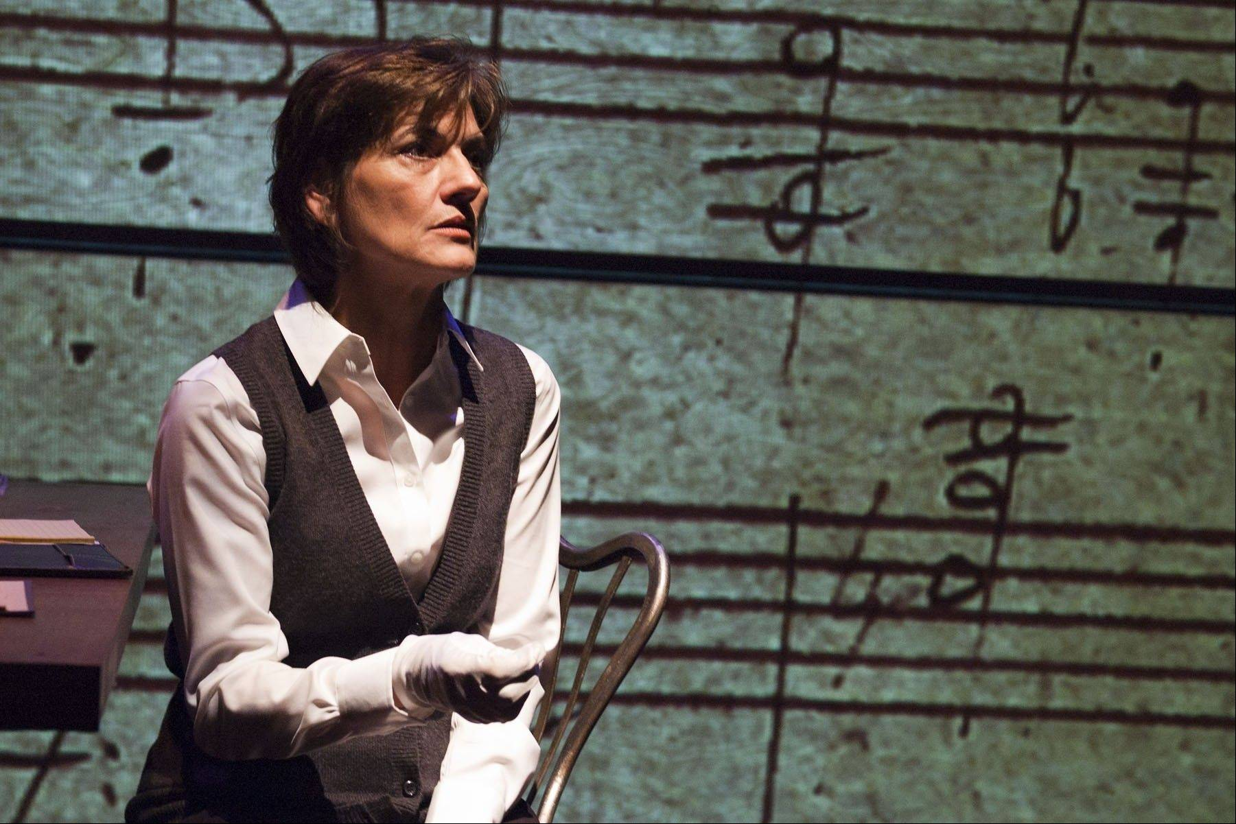 "Janet Ulrich Brooks plays Dr. Katherine Brandt, a music scholar trying to unlock the mystery of why Beethoven spent years composing variations on a mediocre theme in TimeLine Theatre's Chicago-area premiere of Moises Kaufman's ""33 Variations."""
