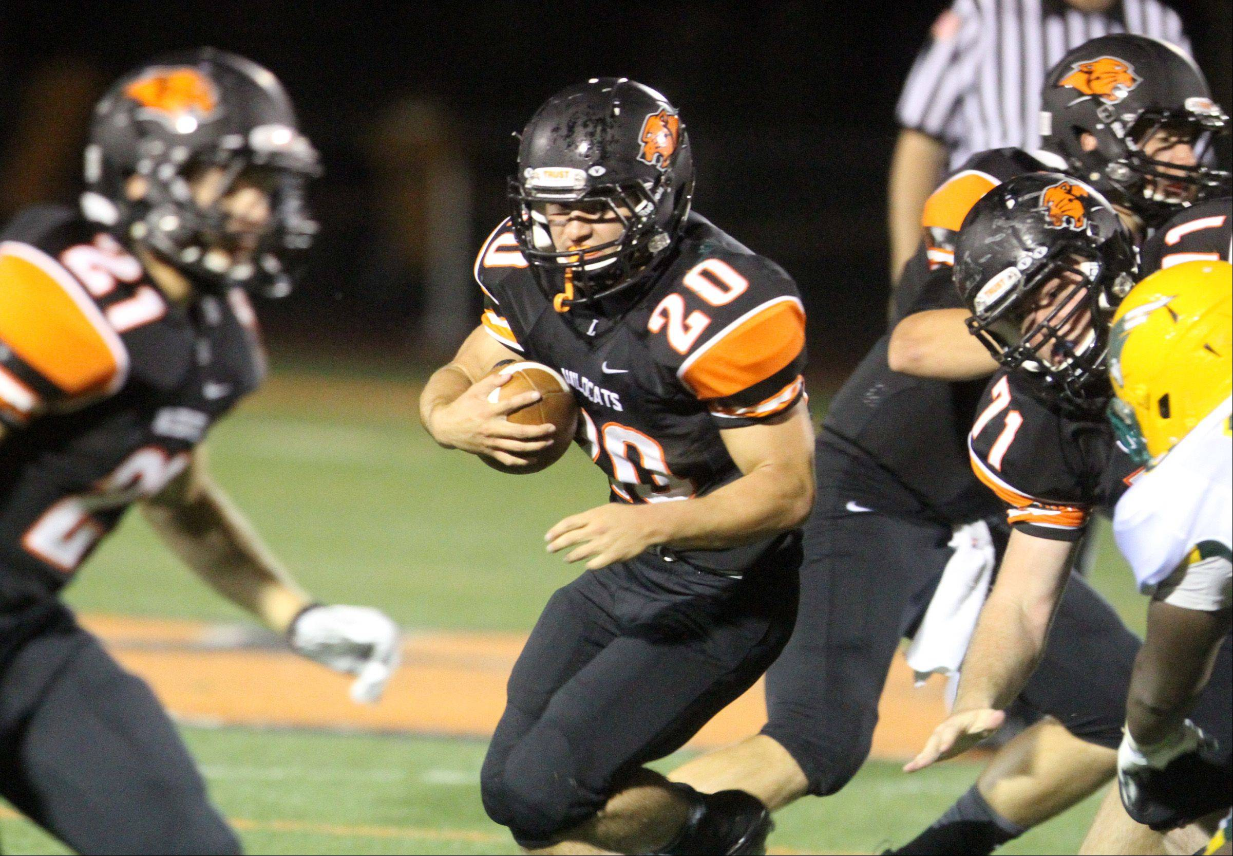 Libertyville running back Brian Swift looks for an opening.