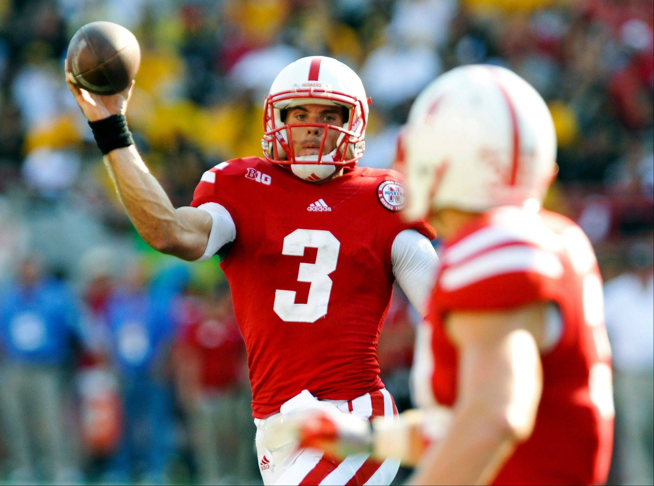Nebraska quarterback Taylor Martinez throws a pass to C.J. Zimmerer during last Saturday�s home win against Southern Mississippi.