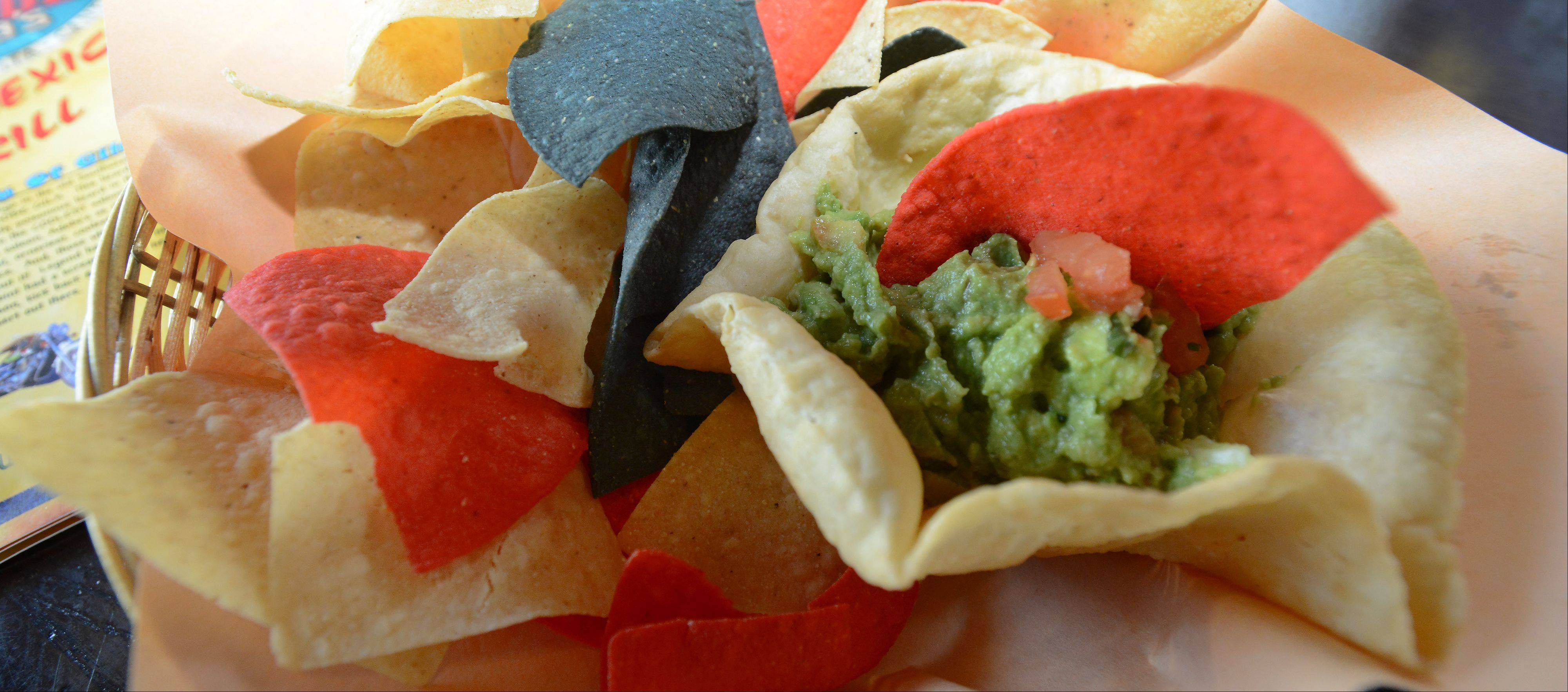 Avocados are smashed by hand to make Adobe Gila's traditional guacamole.