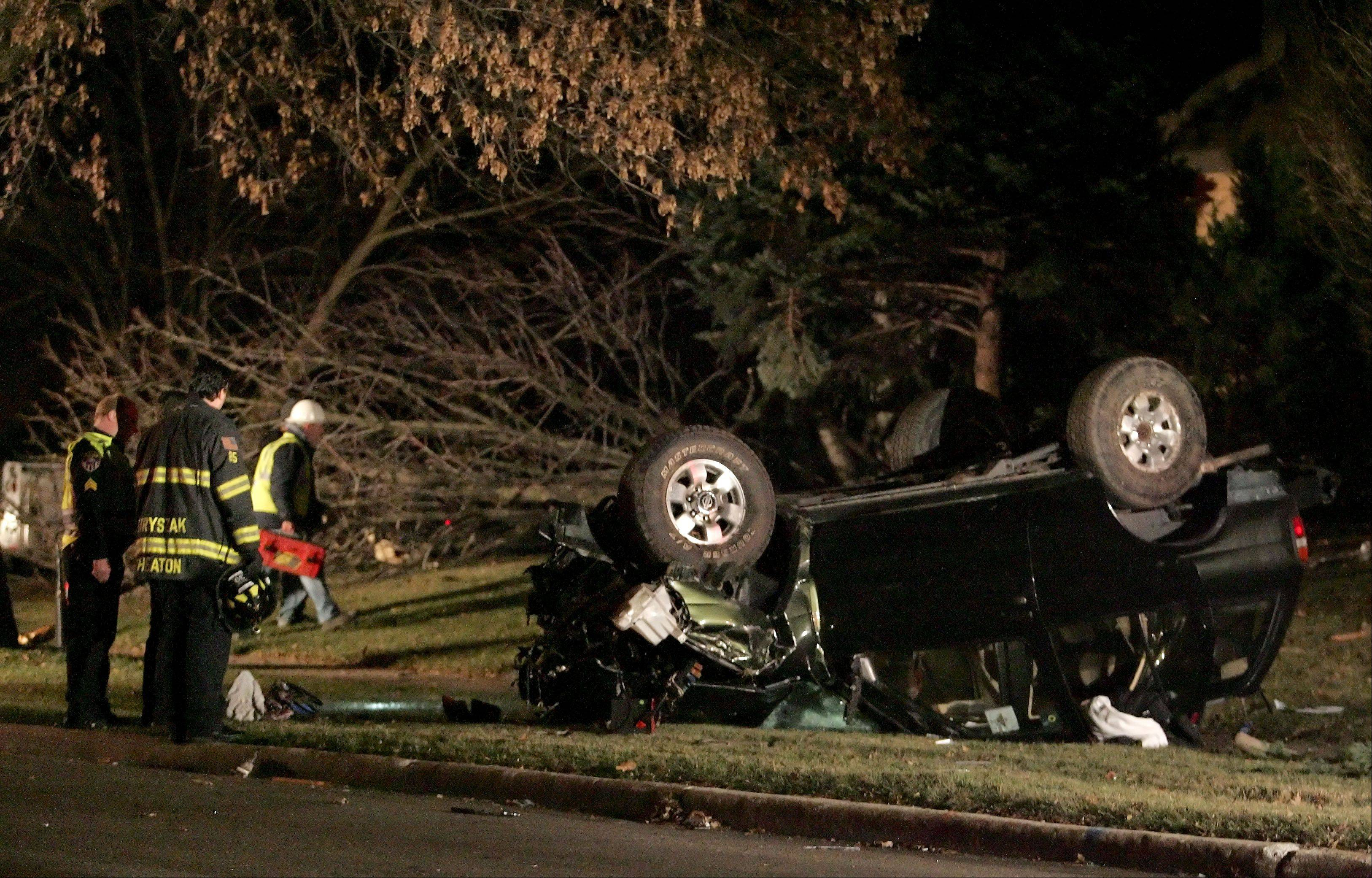 A Downers Grove woman was sentenced to three years in prison for this Jan. 10 DUI crash into a home at Farnham Road and Huntleigh Court in Wheaton.