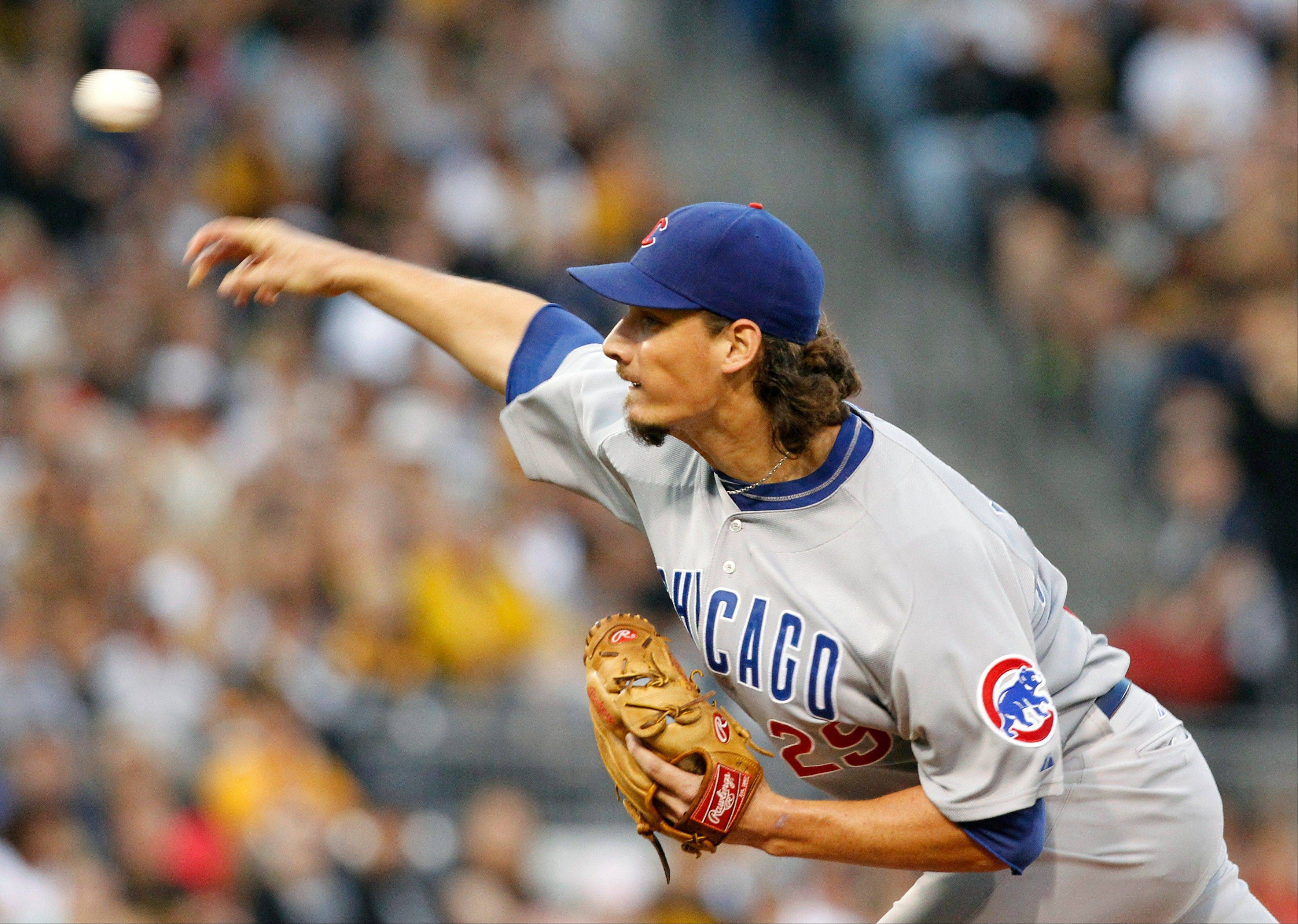 Cubs starting pitcher Jeff Samardzija threw a complete-game victory Saturday against the Pittsburgh Pirates at PNC Park.