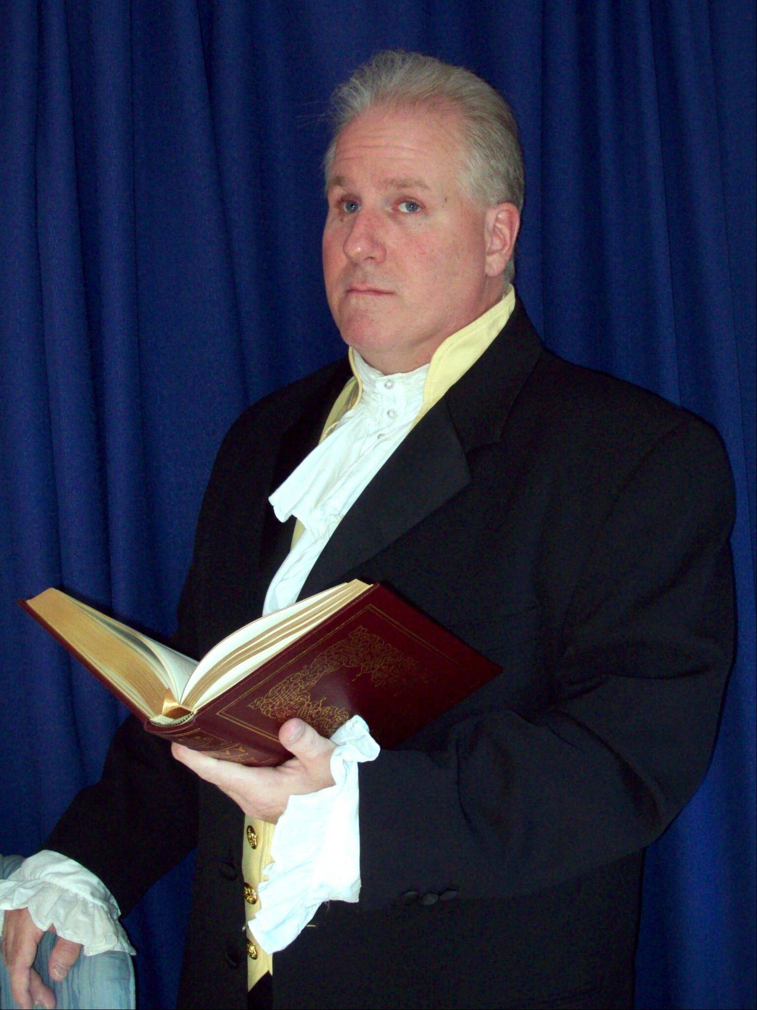 "Historian and re-enactor Terry Lynch portrays President James Madison in ""The War of 1812: Mr. Madison's War"" at the Naper Settlement in Naperville."