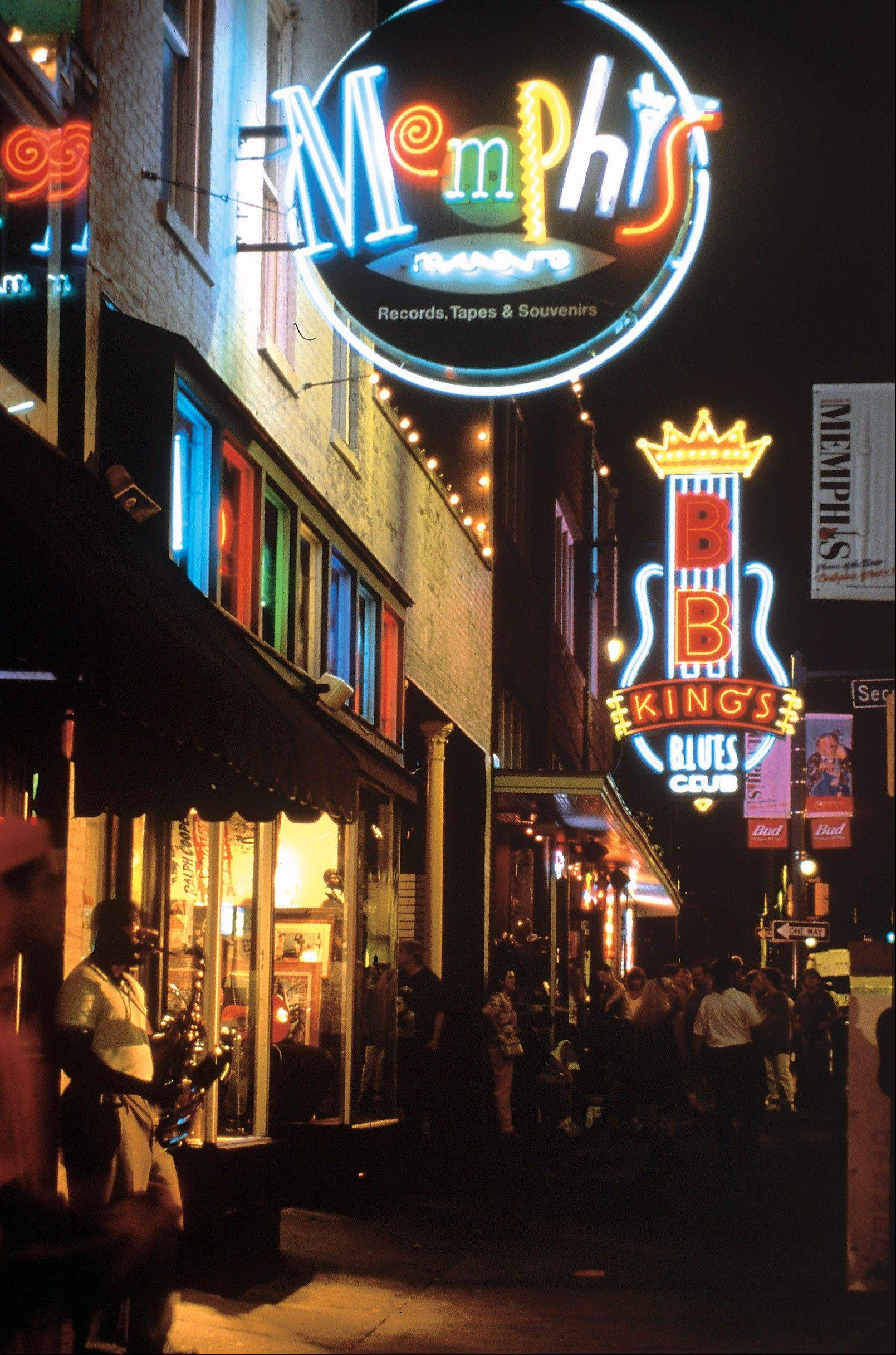 Visitors to Memphis can stroll along Beale Street, home to blues bars, barbecue restaurants, gift shops and dance clubs with a long history of influencing American music.