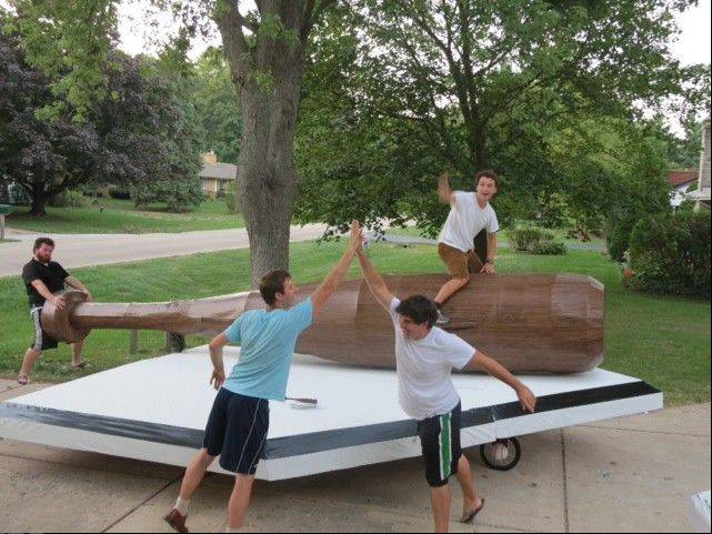 "With a baseball bat attached to home plate, Team ""Harry Caray Express"" of Batavia is looking forward to Saturday's Flugtag."