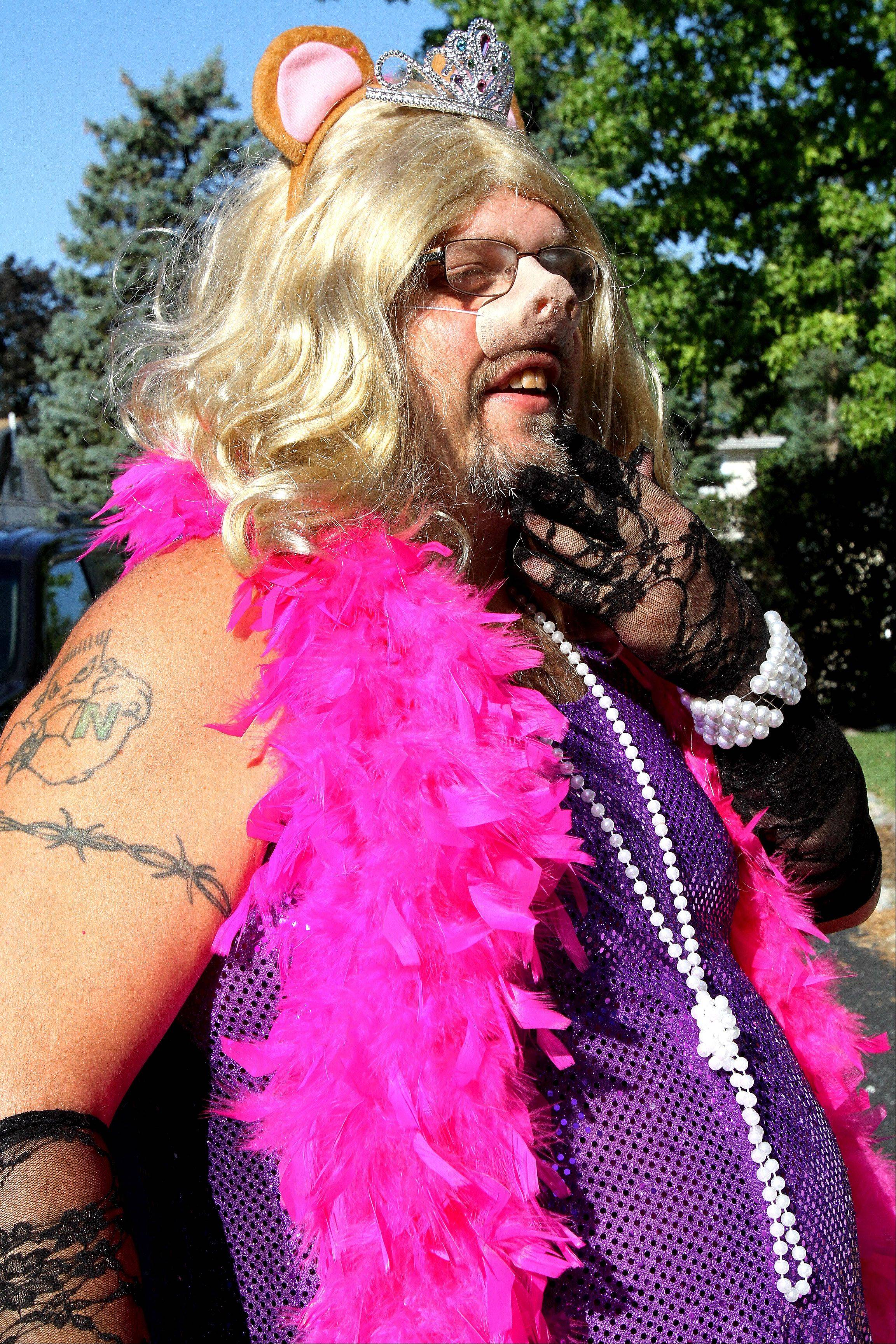 Naresh Nair, of Winfield, as Miss Piggy.