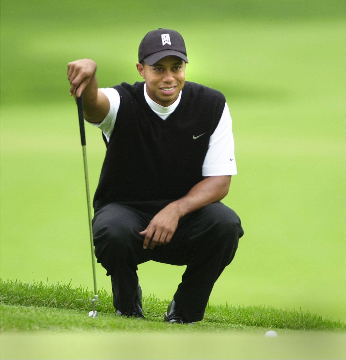 Tiger Woods finished third in the Deutsche Bank Championship to earn $544,000 and push his career total to $100,350,700.