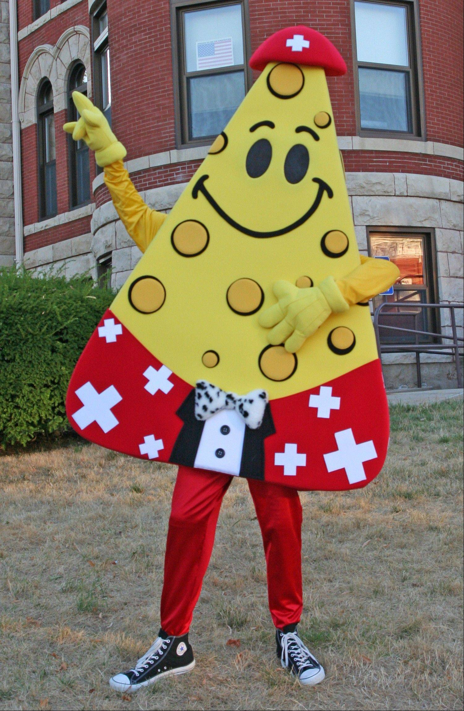 "The new Green County Cheese Days mascot ""Wedgie"" is ready to welcome guests to the oldest food fest in the Midwest, Sept. 14-16, in downtown Monroe, Wis."