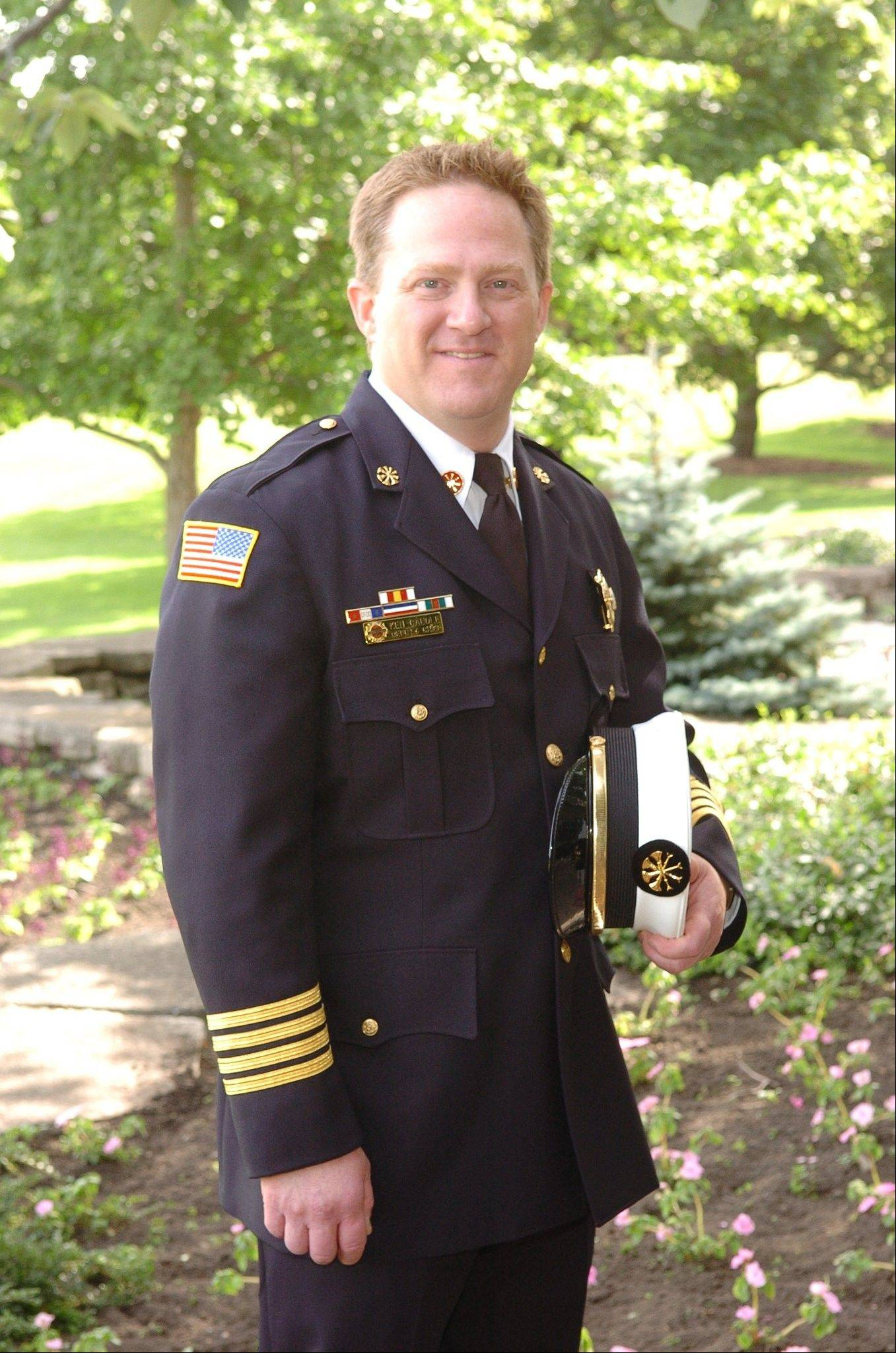 Ken Caudle has been named the Huntley Fire Protection District's new fire chief. He has been with the district for 13 years.