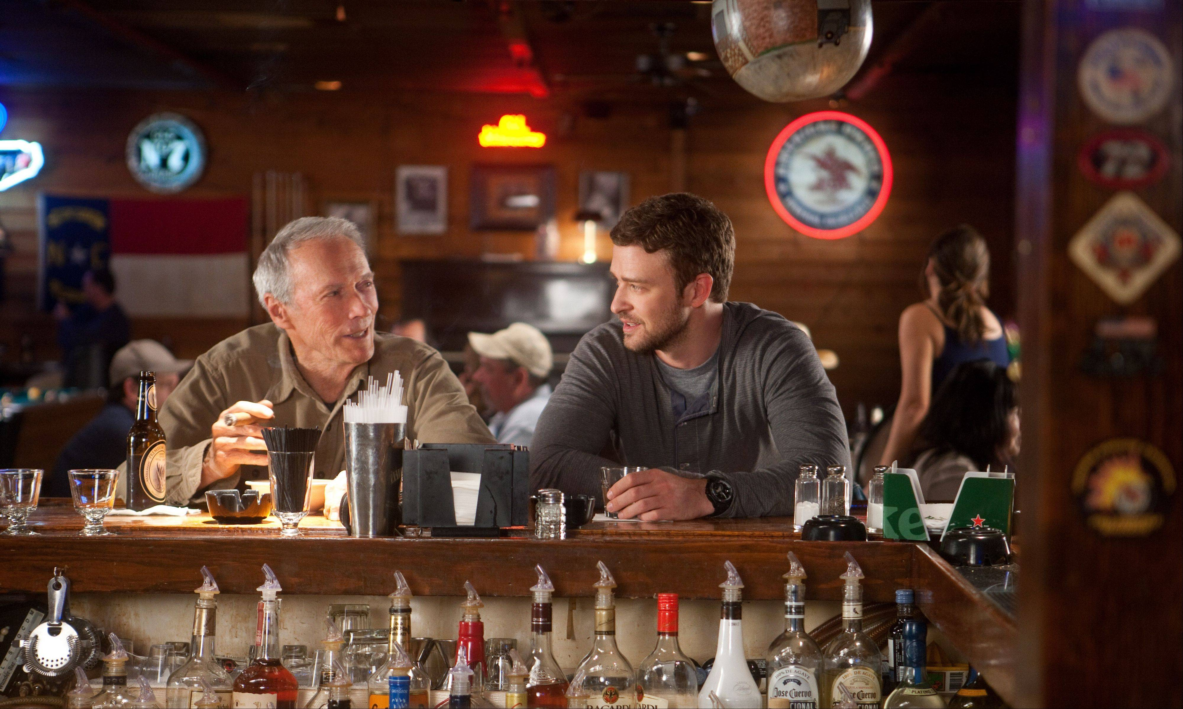 "Clint Eastwood plays an aging and ailing baseball scout with Justin Timberlake as his rival in ""Trouble With the Curve,"" which will be released on Sept. 21."