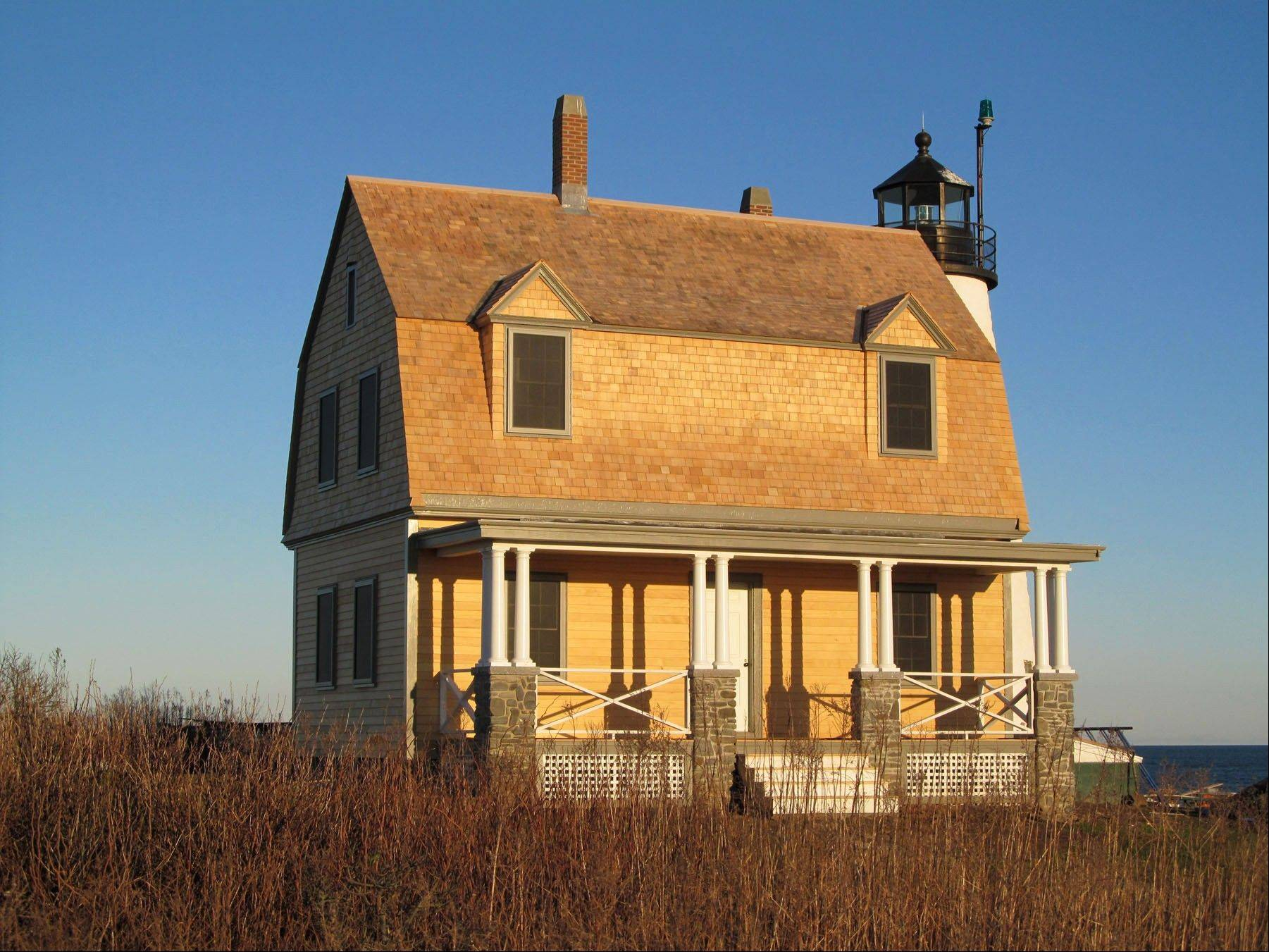See the keeper's house at Wood Island during Maine's Open Lighthouse Day.