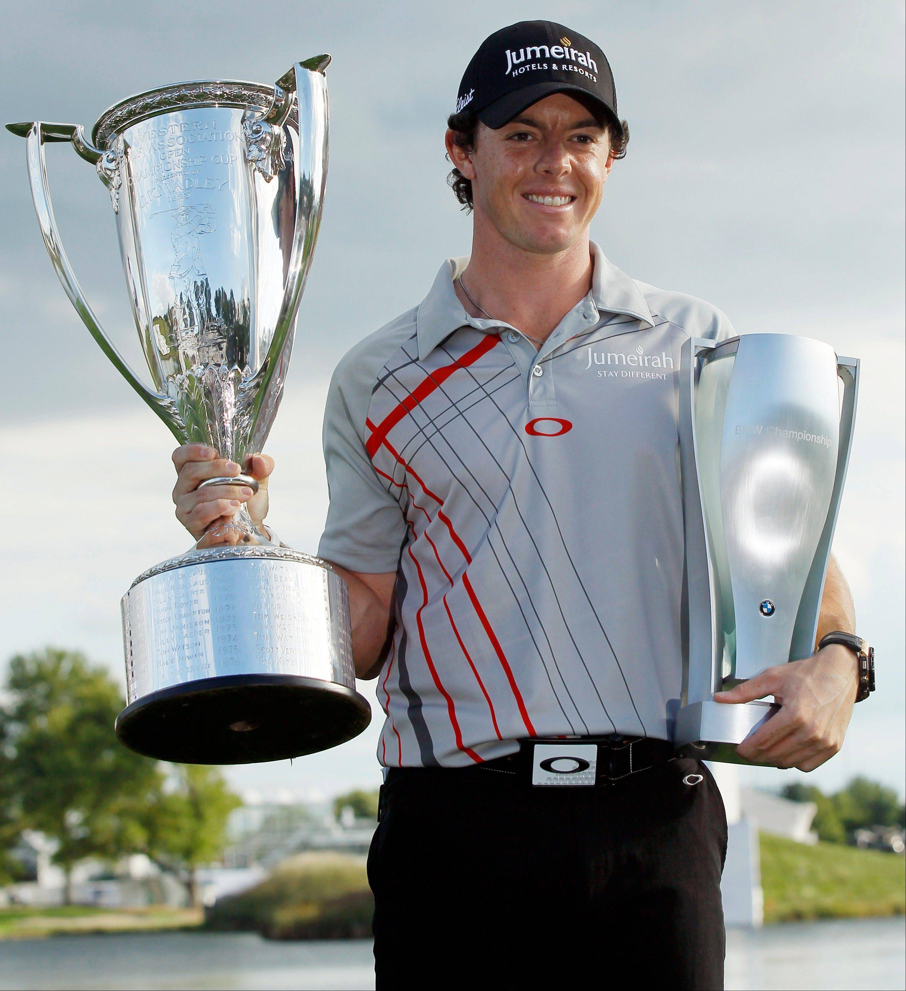 With his victory Sunday at the BMW Championship, Rory McIlroy claimed his third title in four weeks.