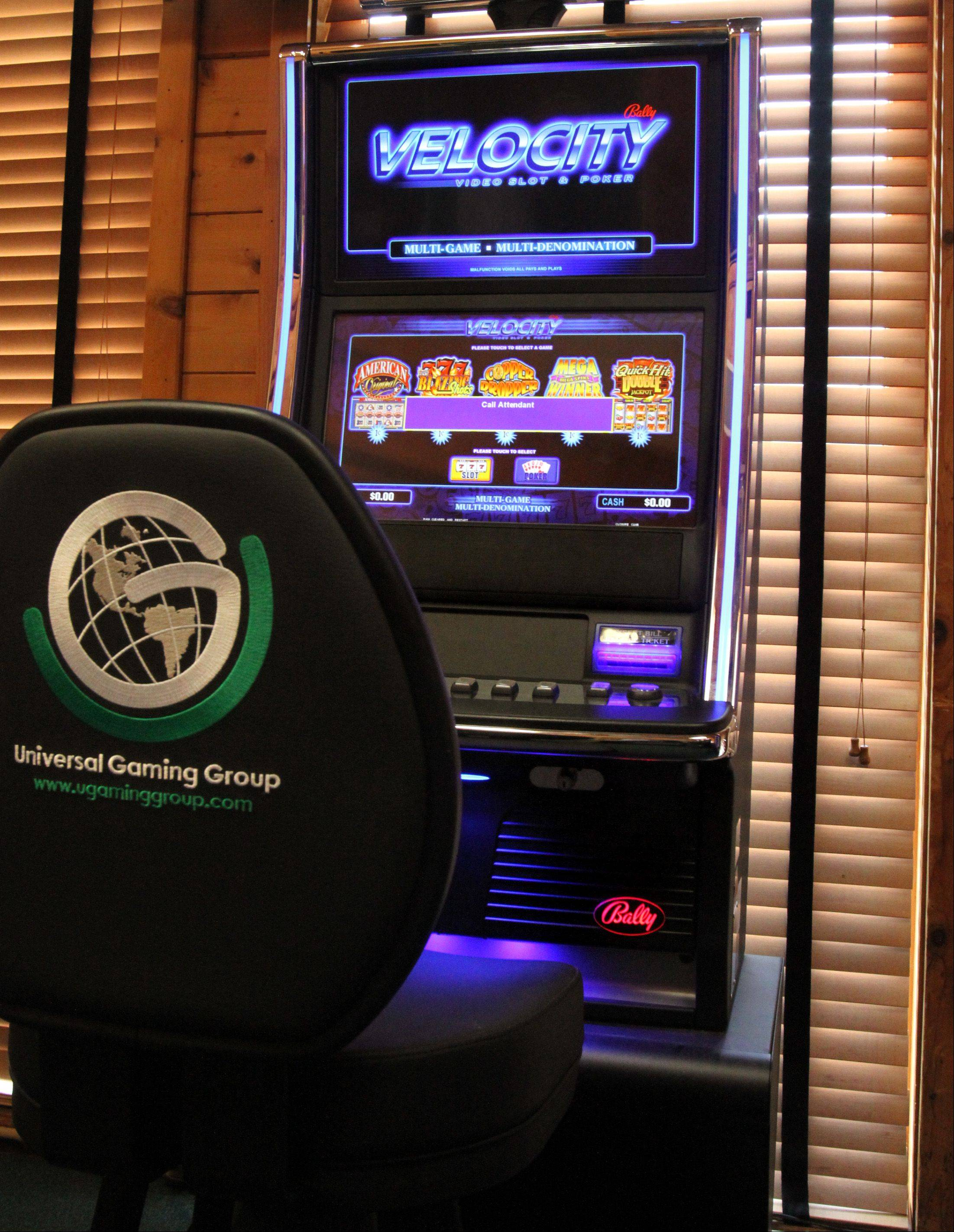 A Universal Gaming Group Velocity poker gambling machine installed at the Assembly in Hoffman Estates. Mundelein officials are taking the first steps to allwoing video gambling in the village