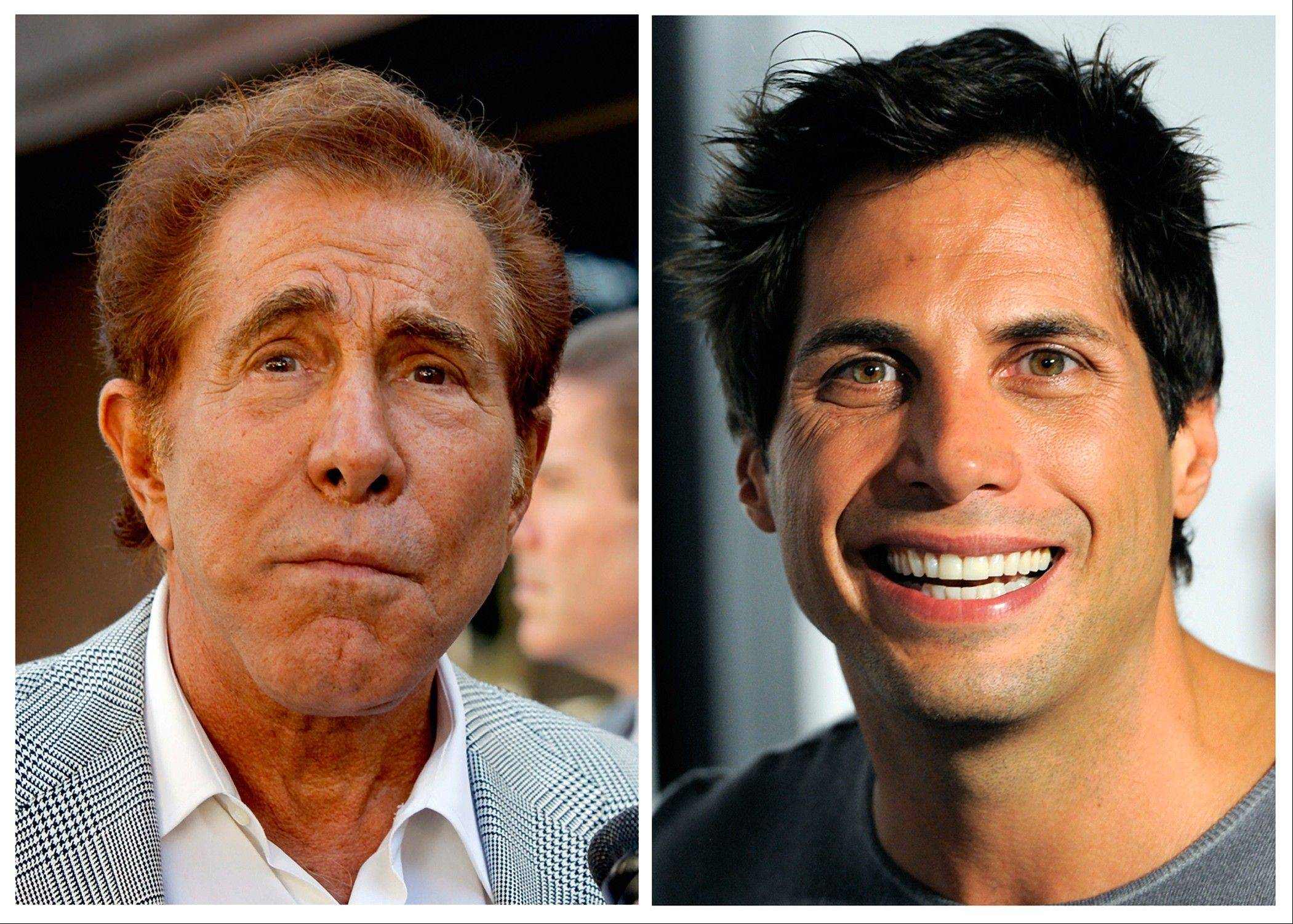 "Steve Wynn, left, the casino mogul who added The Mirage, The Bellagio, Wynn and Encore to the Las Vegas Strip, was awarded $20 million by a jury that says ""Girls Gone Wild"" founder Joe Francis, right, slandered Wynn when he claimed the casino mogul threatened to kill him and bury him in the desert."