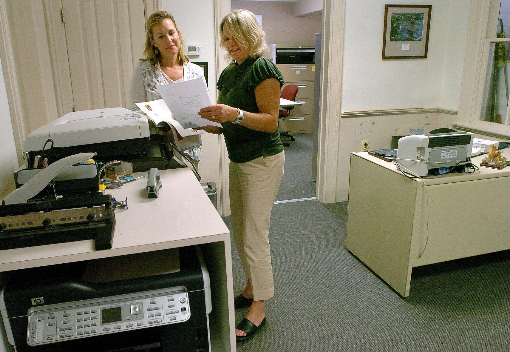Beth McAndrews of Barrington and Janet VanZant of Deer Park, work at the Village of Deer Park. They found their jobs with the help of CareerPlace in Barrington.