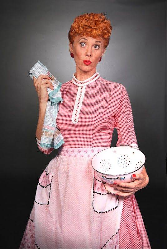 "Sirena Irwin stars as Lucy Ricardo in ""I Love Lucy Live On Stage,"" which plays the Broadway Playhouse at Water Tower Place in Chicago from Wednesday, Sept. 12, through Sunday, Nov. 11."