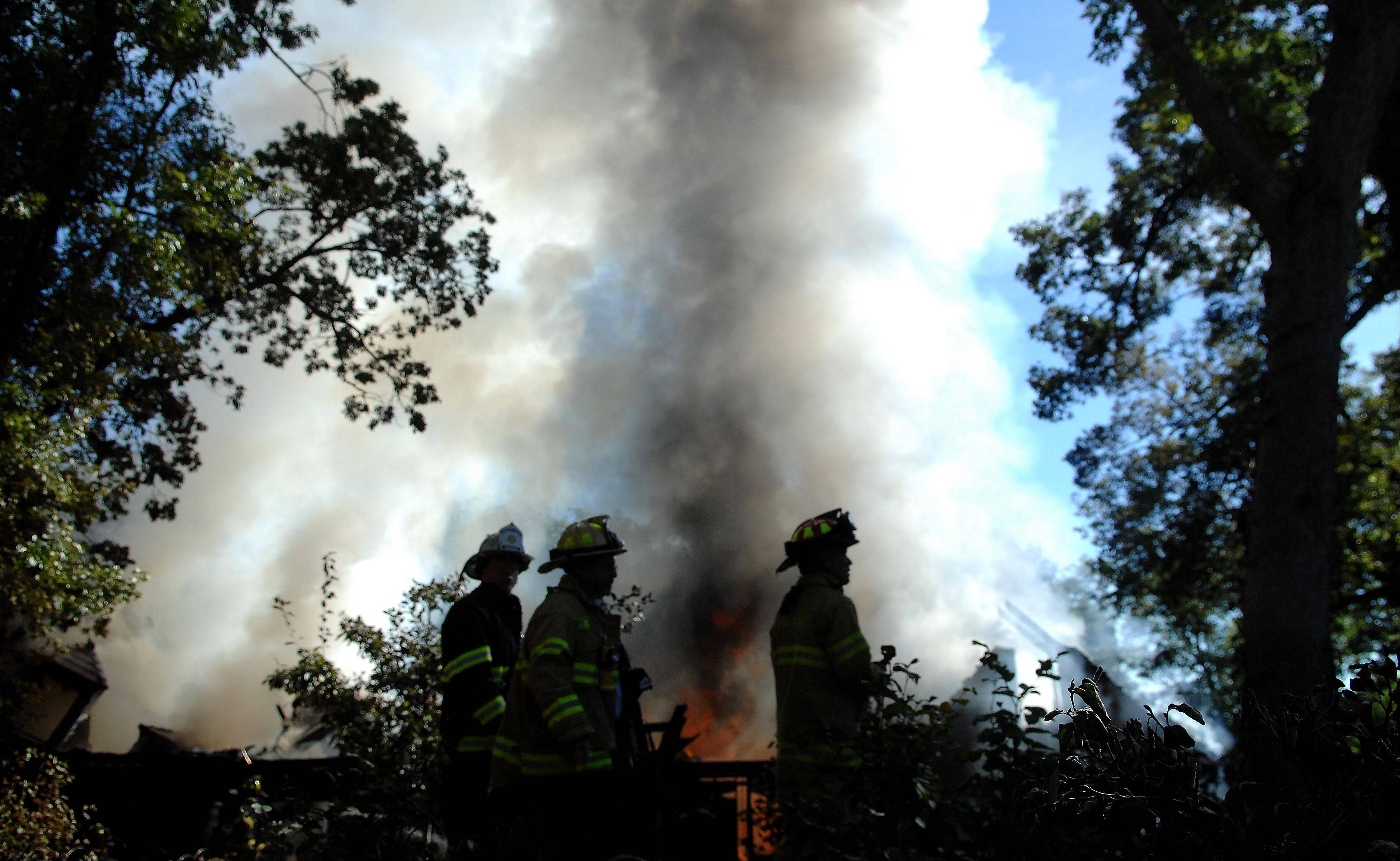 A house fire on Spring Wood Lane in Campton Hills started just before 9 a.m. Monday, according to fire officials.