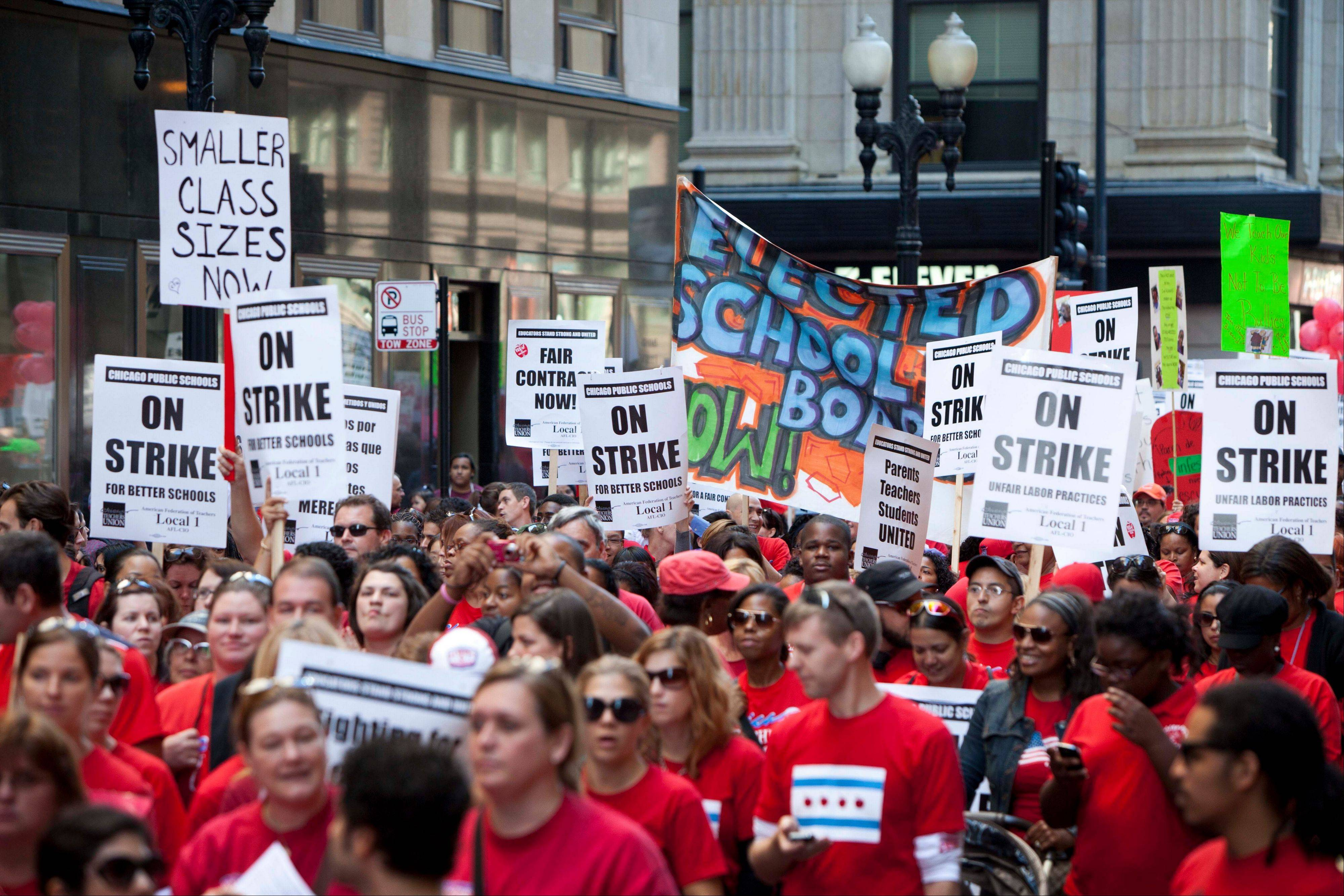 Chicago public school teachers went on strike Monday for the first time in 25 years.