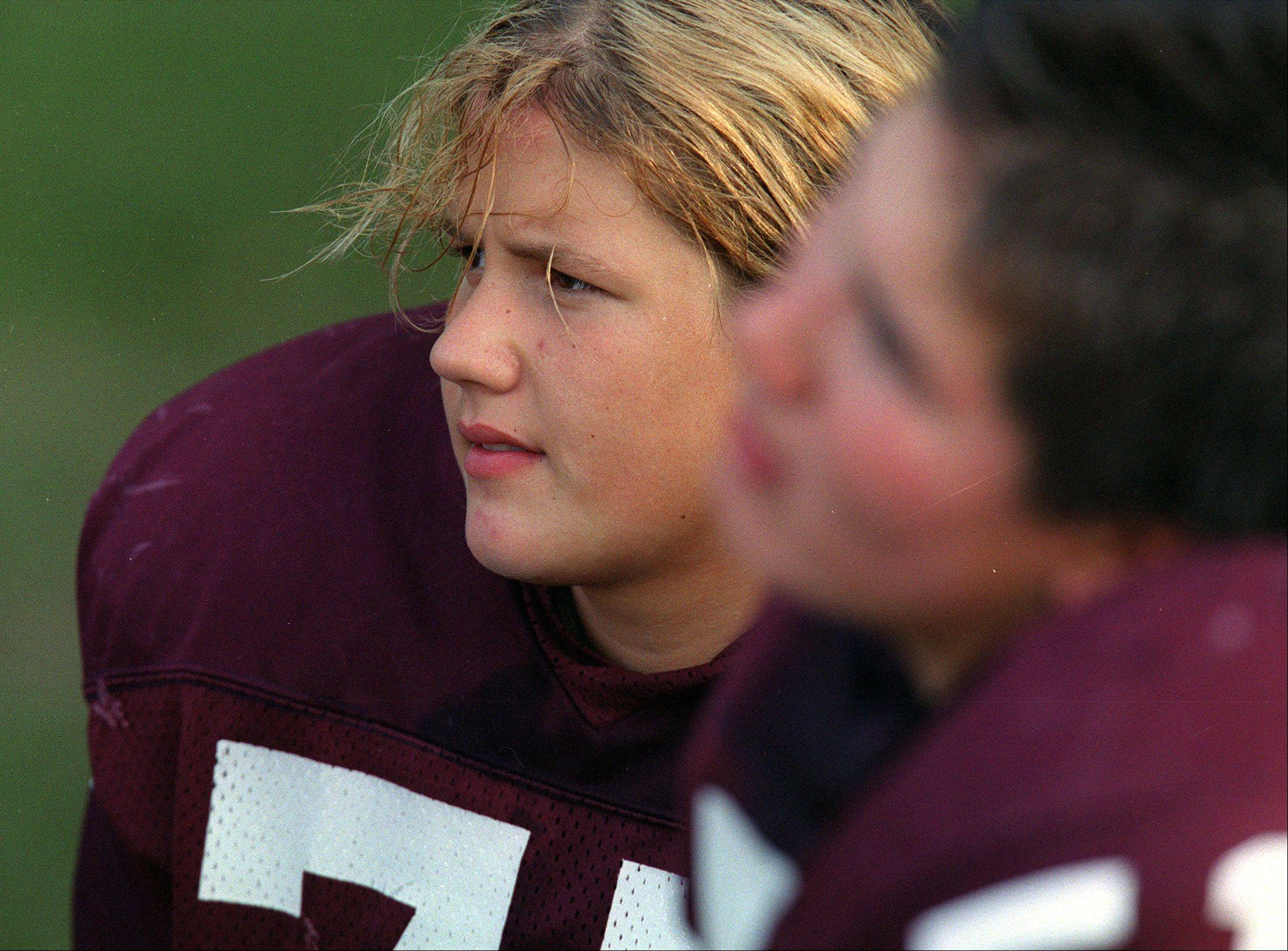 Adrianna Delhotal eventually played football at Elgin High School.