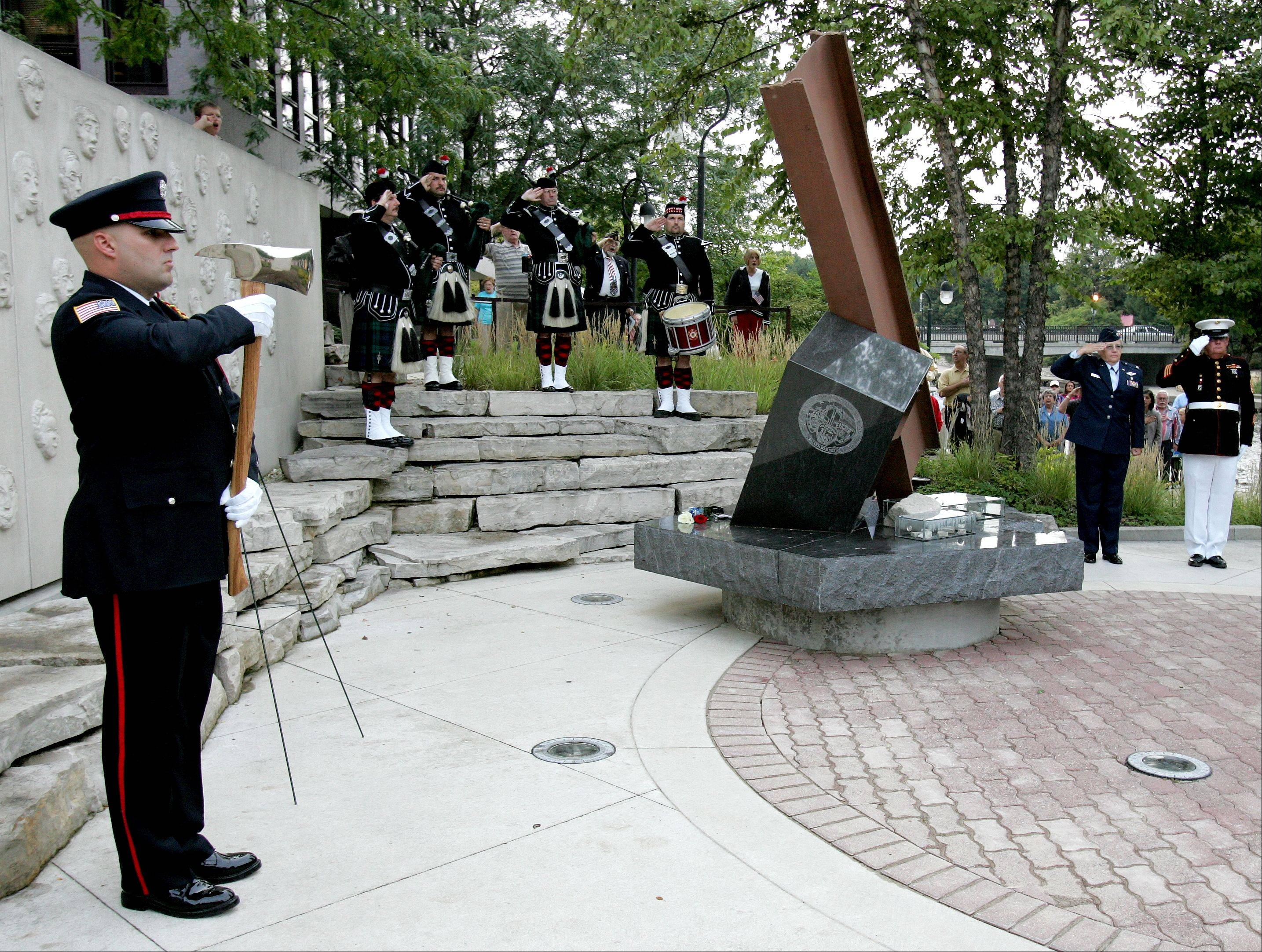 Naperville's Sept. 11/Cmdr. Dan Shanower Memorial is the site of the city's annual remembrance of the attacks and those who died, including Navy Cmdr. Dan Shanower, a Naperville native.