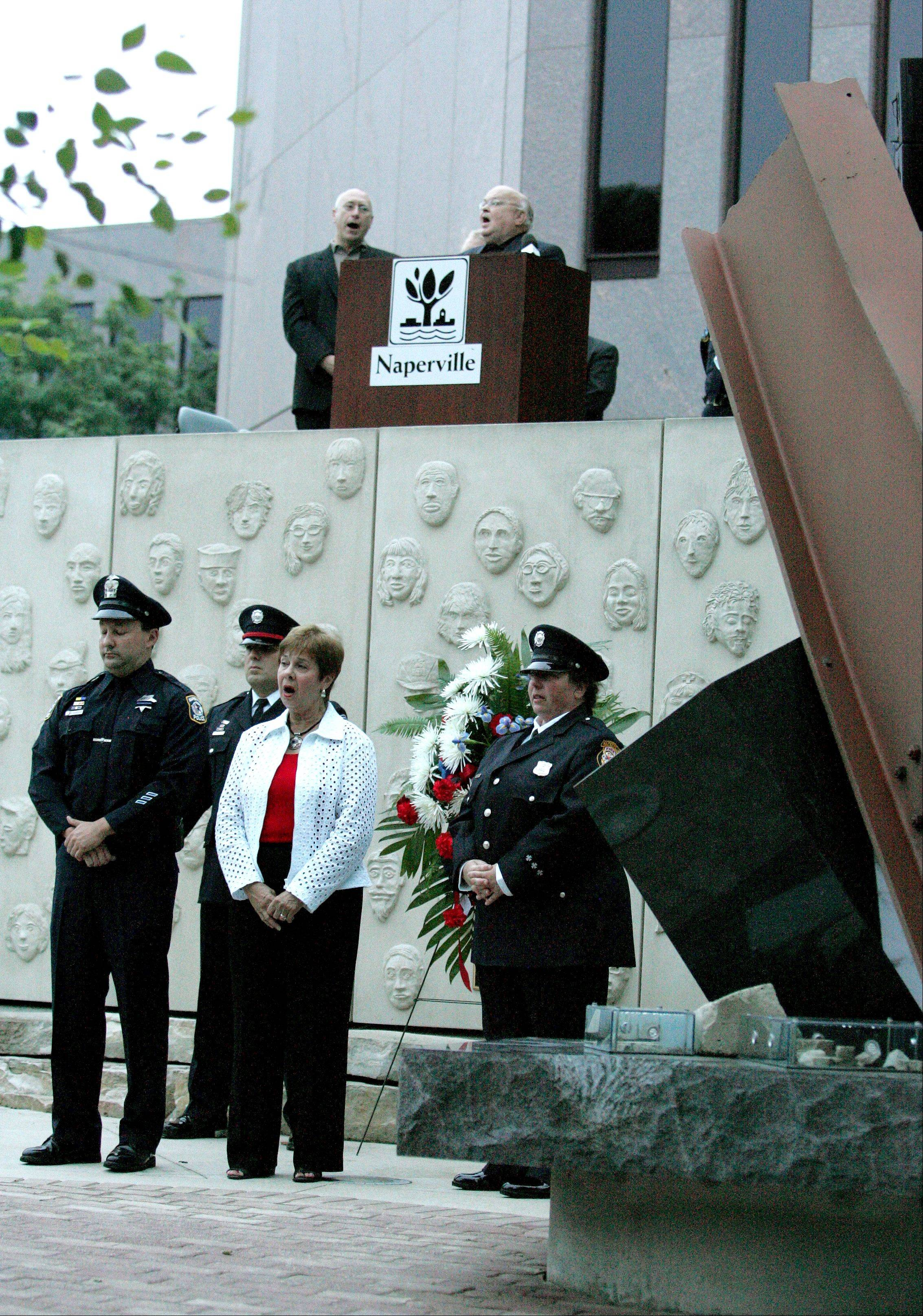 The Sept. 11/Cmdr. Dan Shanower Memorial includes steel from the World Trade Center and other symbols of the sites where terrorists struck. The city's ceremony begins at 5:30 p.m. Tuesday, Sept. 11, at the memorial.