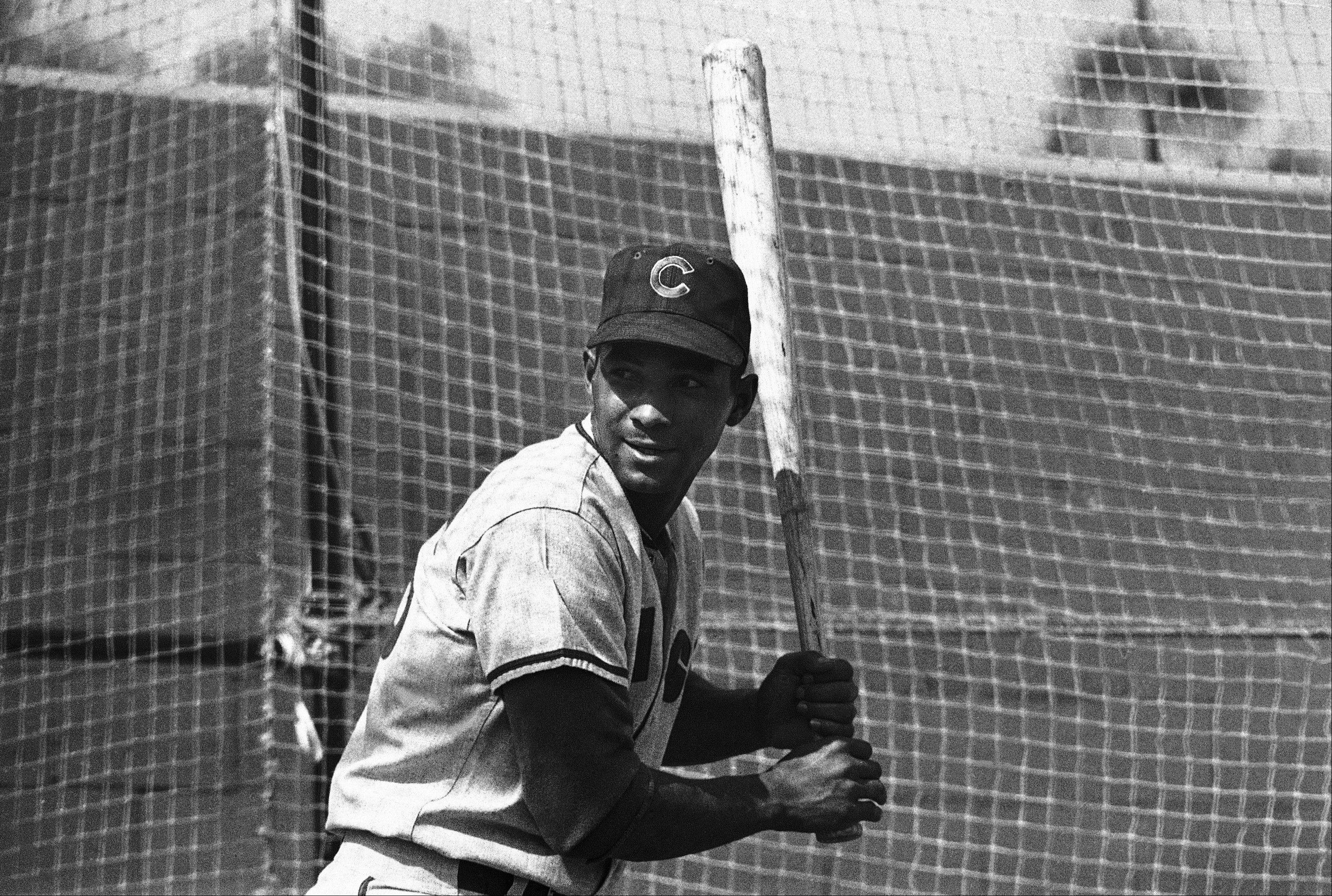 Billy Williams the cubs at spring training on Feb. 28, 1966 at Long Beach., Calif.