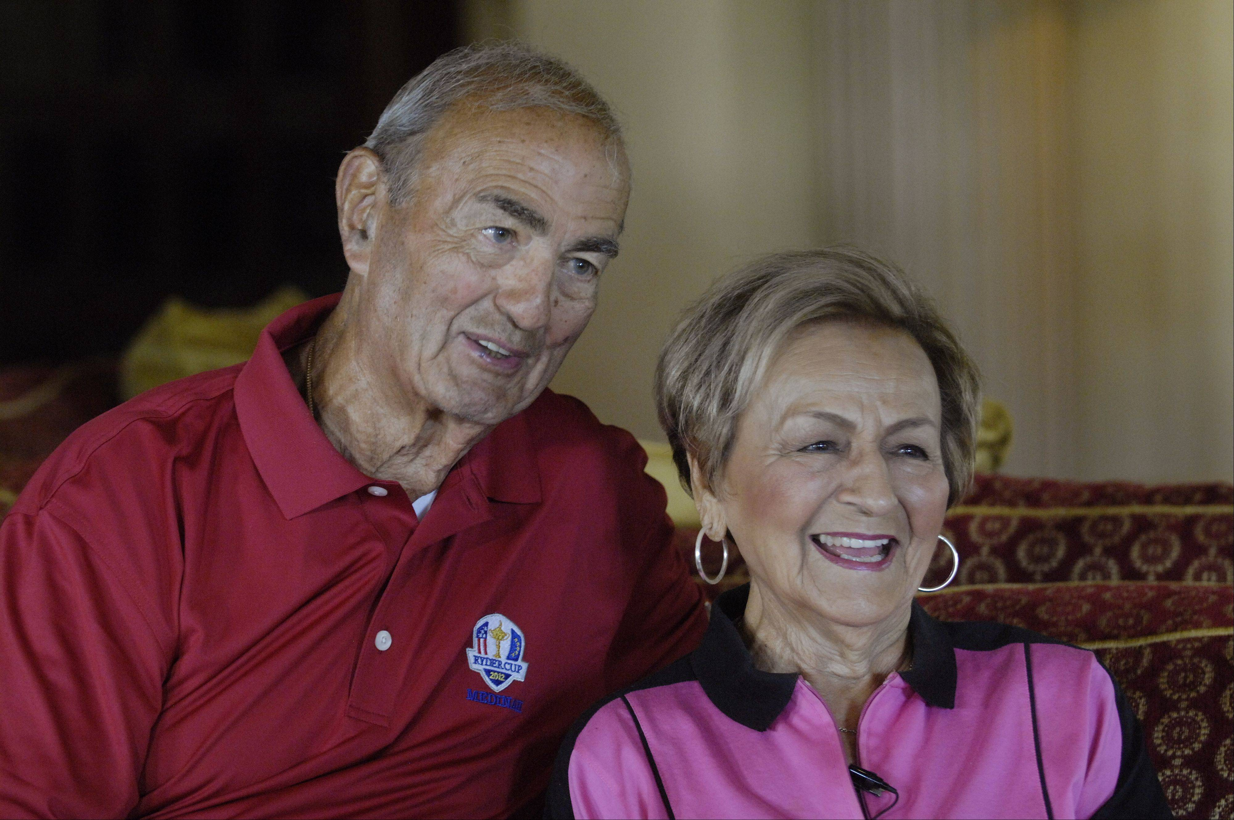 Park Ridge residents Peter and Bertha Broustis are no stranger to big events at Medinah Country club. They've witnessed and been a part of a U.S. Open, a U.S. Senior Open and a pair of PGA Championships.