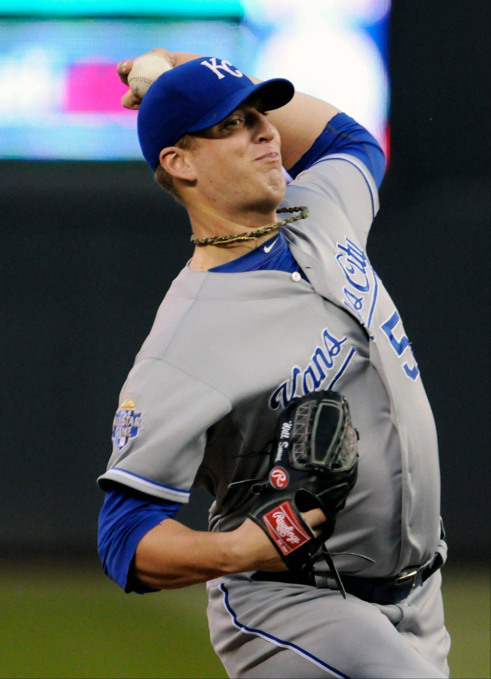Kansas City Royals pitcher Will Smith struck out a career-high seven Tuesday in Minneapolis in his first win in four starts.