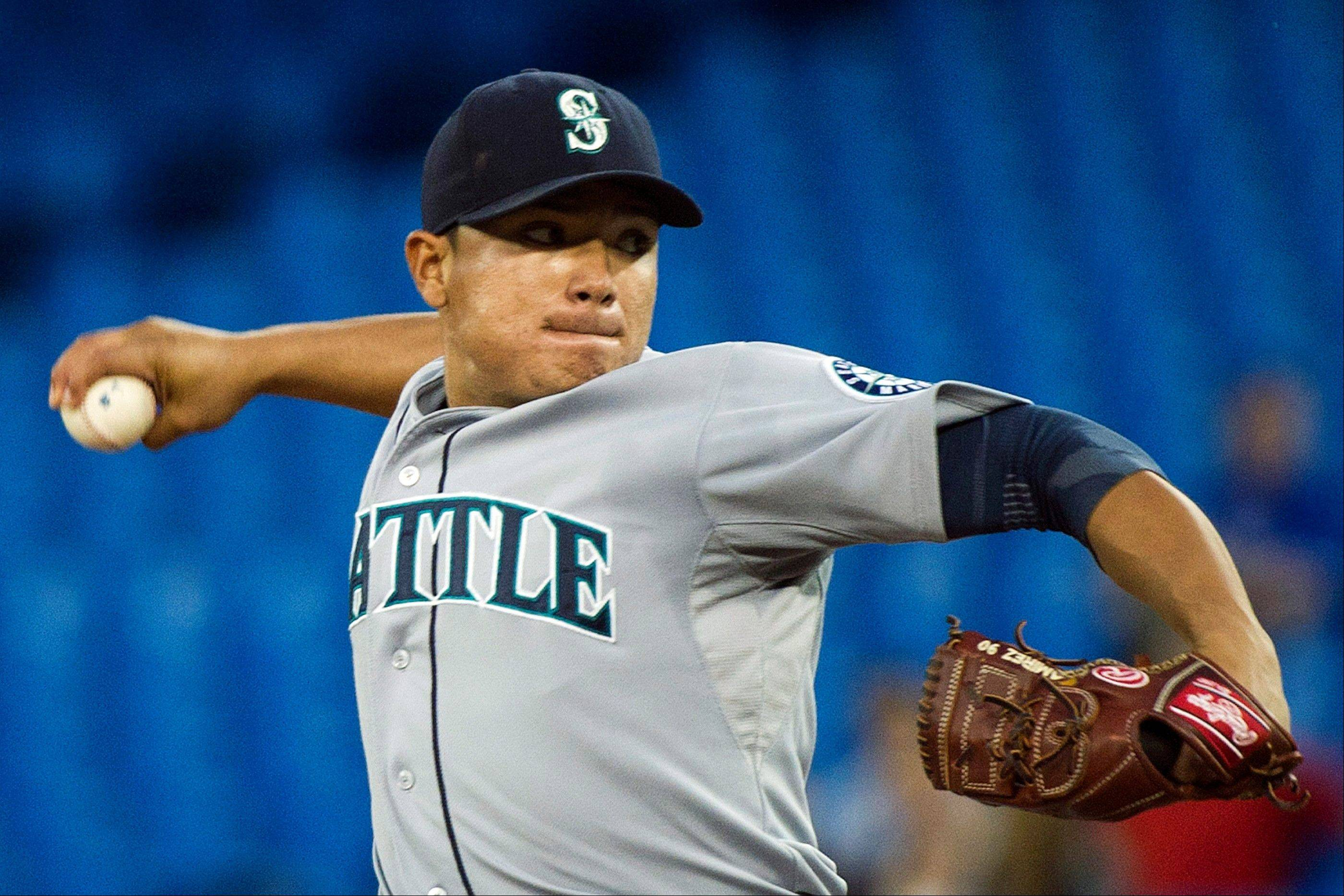 Seattle Mariners starting pitcher Erasmo Ramirez allowed two runs on six hits Tuesday night in Toronto.
