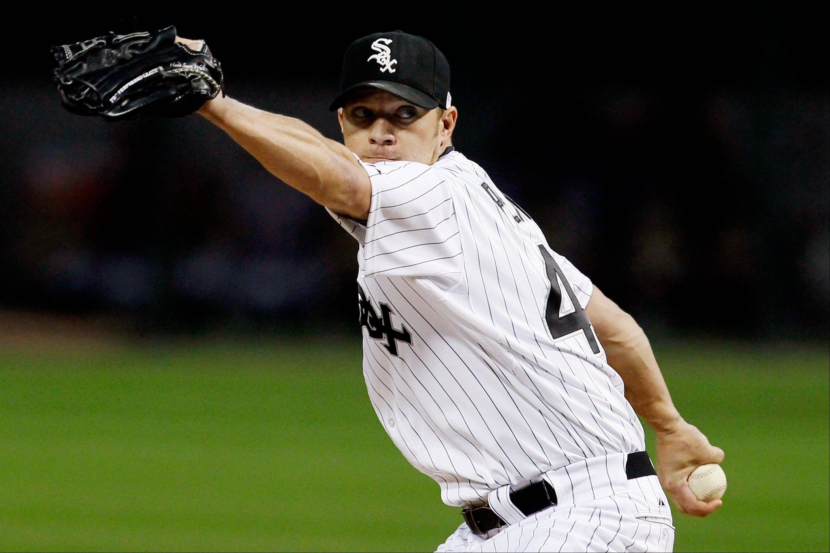 White Sox starting pitcher Jake Peavy delivers Tuesday during the first inning against the Detroit Tigers at U.S. Cellular Field.