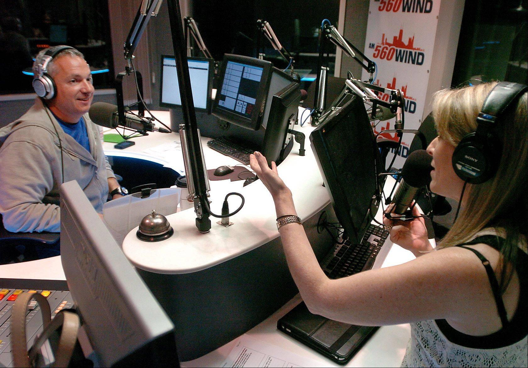 "Carl Amari, of South Barrington, and his co-host Lisa Wolf, do their nationally syndicated ""Hollywood 360"" radio show on Saturday night from the WIND AM-560 studios in Elk Grove Village."