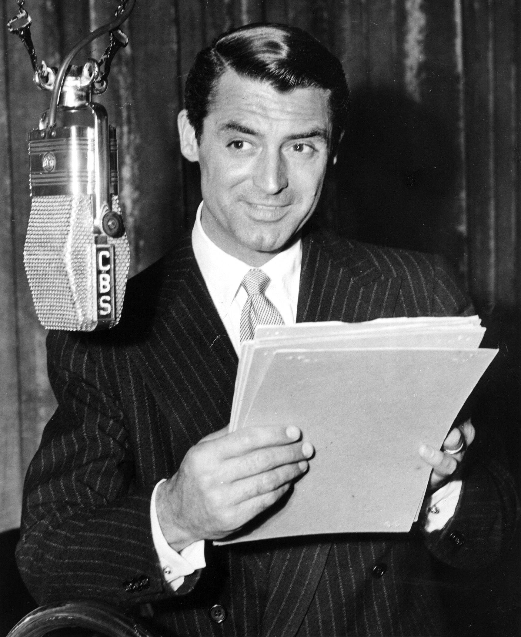 Actor Cary Grant was a popular radio star during the Golden Age of Radio.