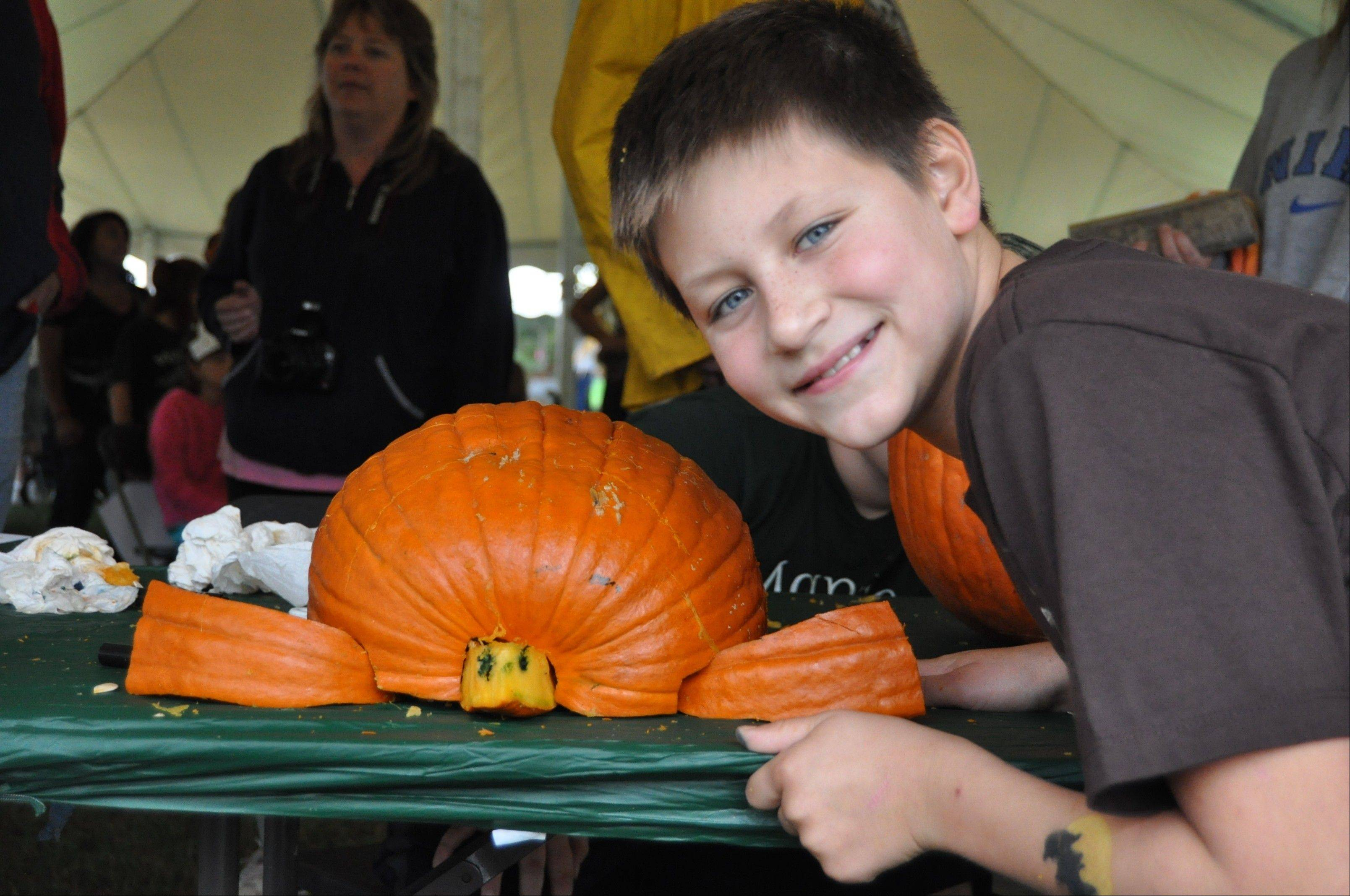 The Goodenow Grove Fall Fest and Grand Reopening includes pumpkin carving among other activities at the Goodenow Grove Nature Preserve in Beecher.