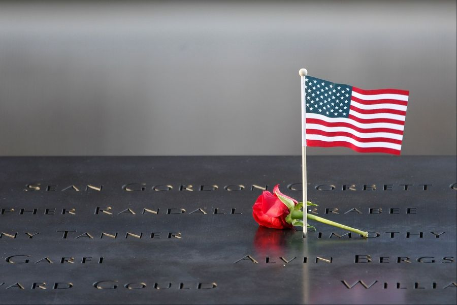 Image result for 9/11 memorial flag