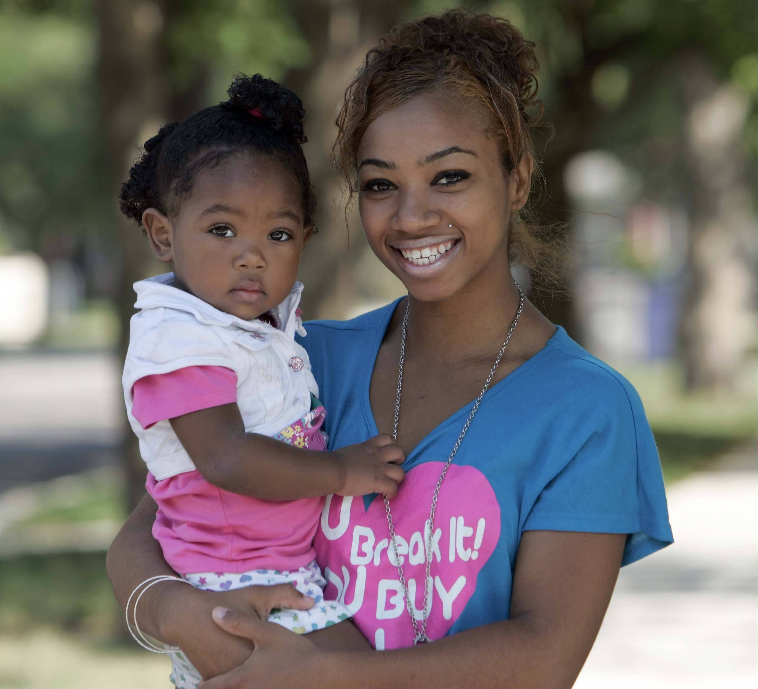 Because of Title IX, young moms like Chrystal Stokes of Elgin and parenting fathers must have equal access to school programs and extracurricular activities. Stokes got six weeks of excused absences from Elgin High after she gave birth to her daughter, Nevaeh Johnson.