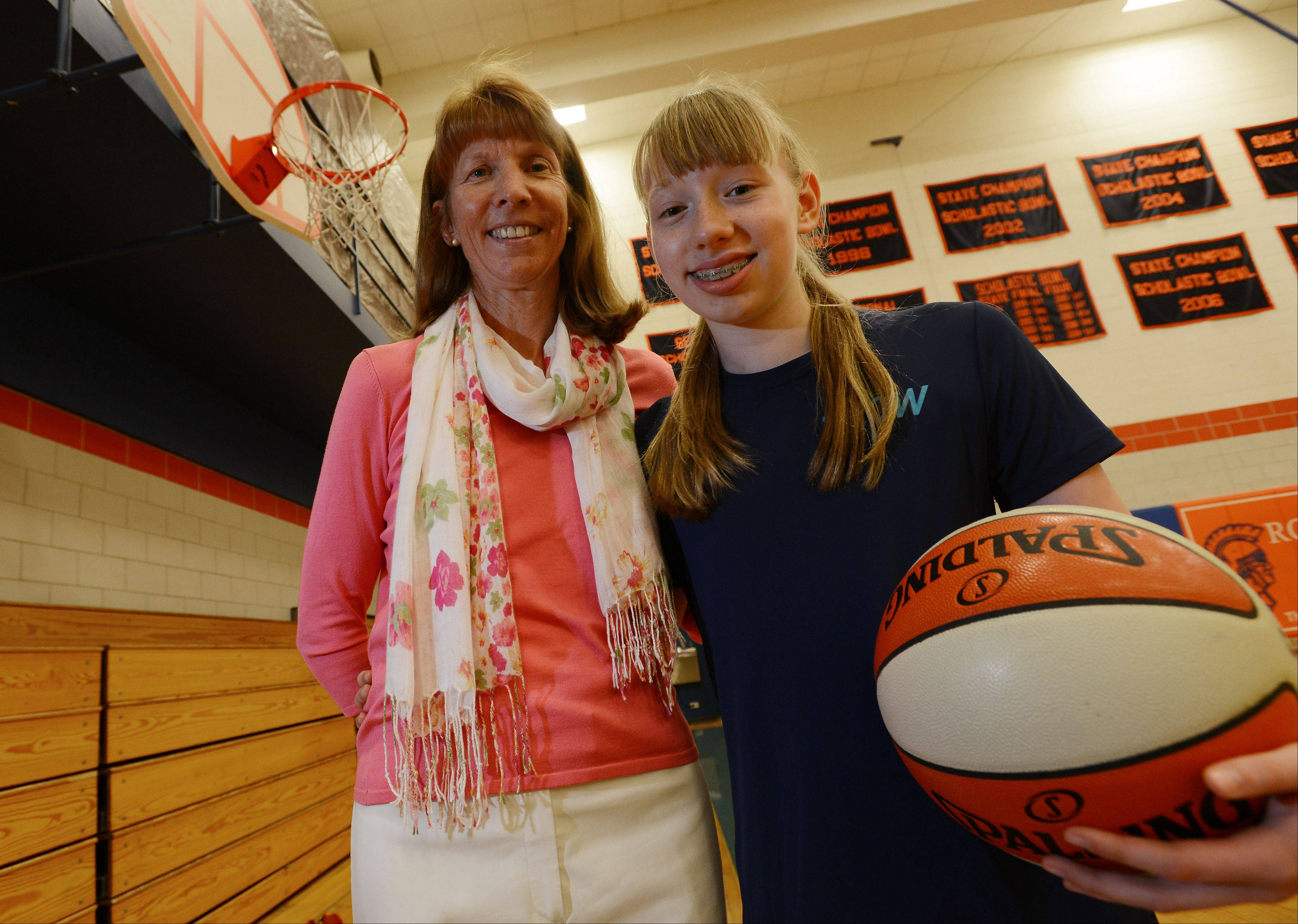 Chicago Sky Chairman Margaret Stender -- a star at the University of Richmond -- and her, daughter, Kathryn, 13.