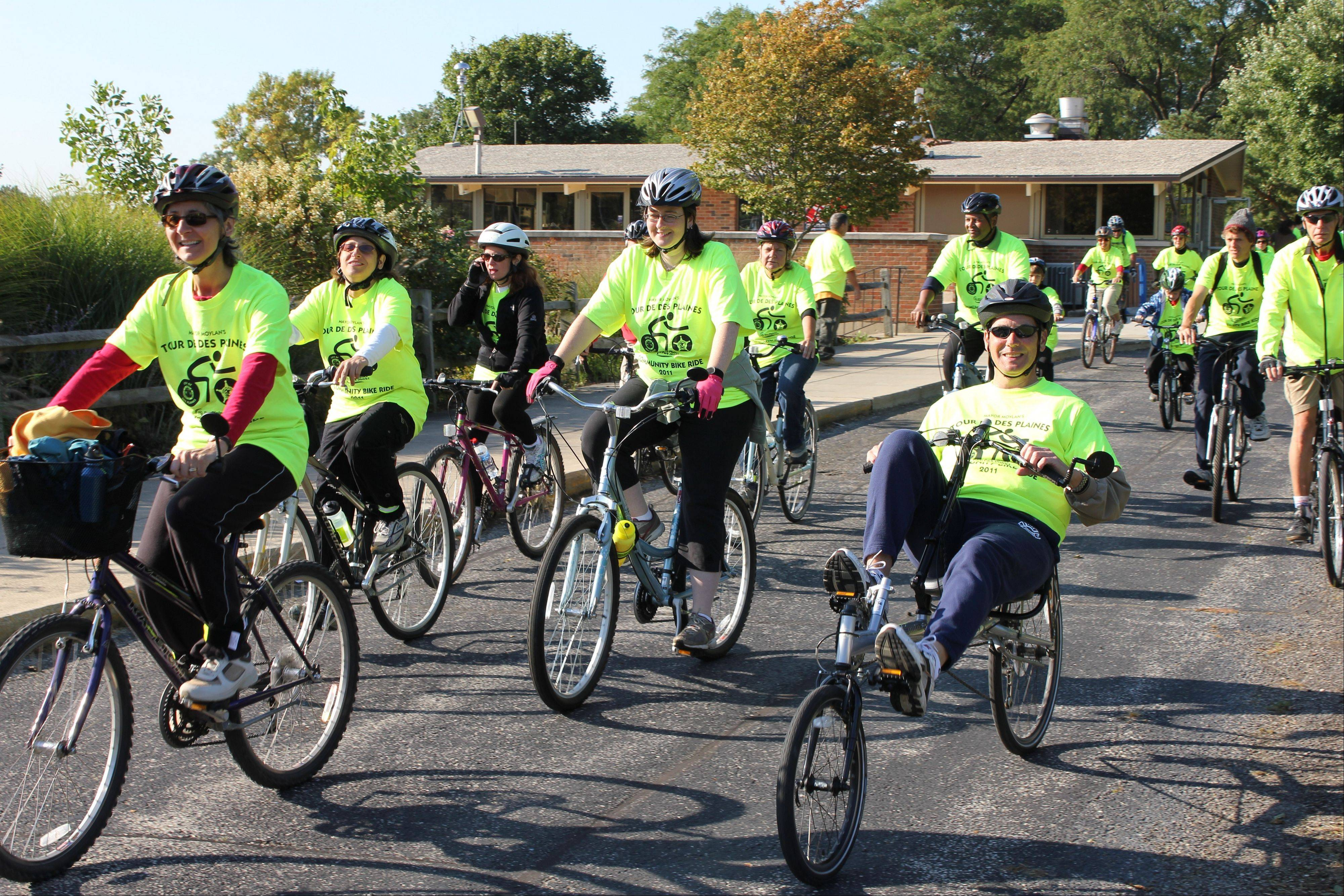 Des Plaines Mayor Martin J. Moylan, the Des Plaines Police Department and the Des Plaines Park District invite all bicycle enthusiasts to participate in the Tour Des Plaines Bike Ride, being held Saturday, Sept. 15.