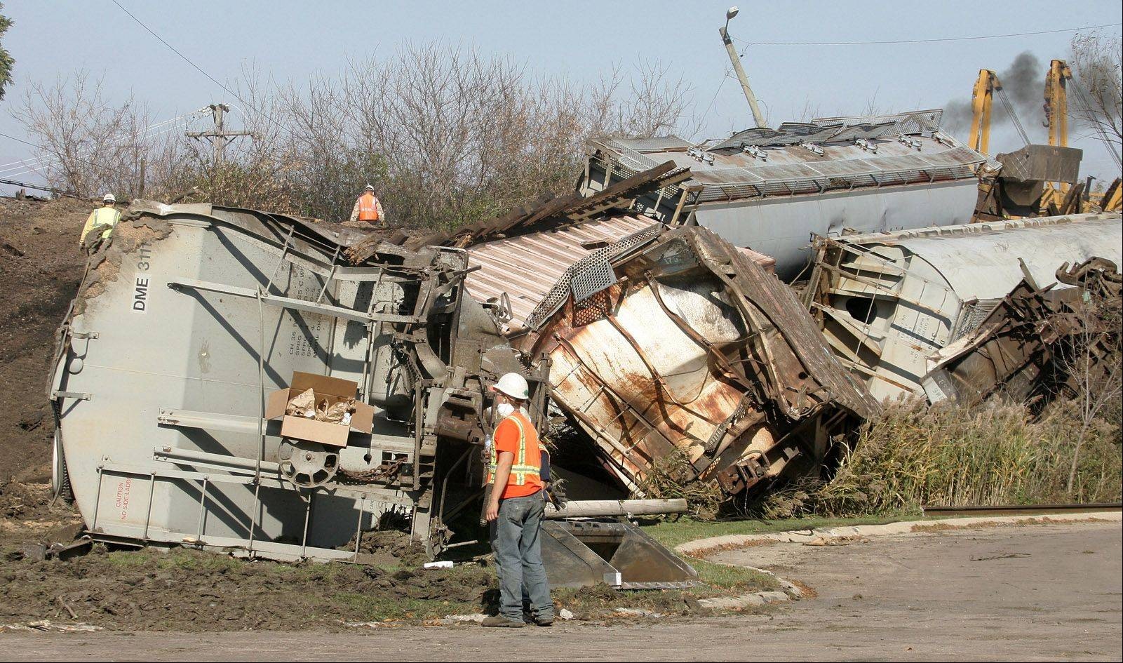 With freight train derailments occurring on main lines an average of 13 times a year in Chicago and the suburbs, local leaders don't want to play the odds that a derailment could lead to a hazardous materials spill. Tank cars, they say, should be reinforced to help keep that from happening.